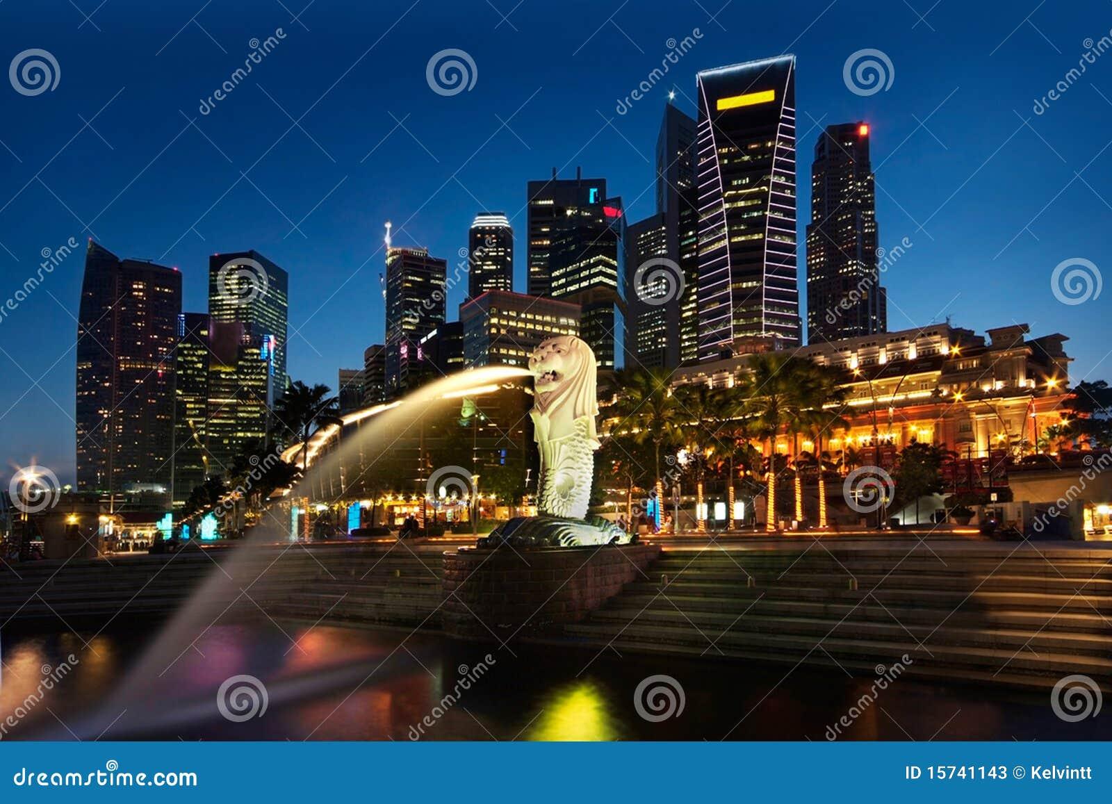 городской пейзаж singapore