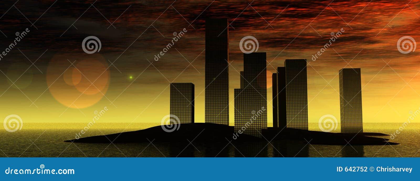 Download Город 10 воды иллюстрация штока. иллюстрации насчитывающей развитие - 642752