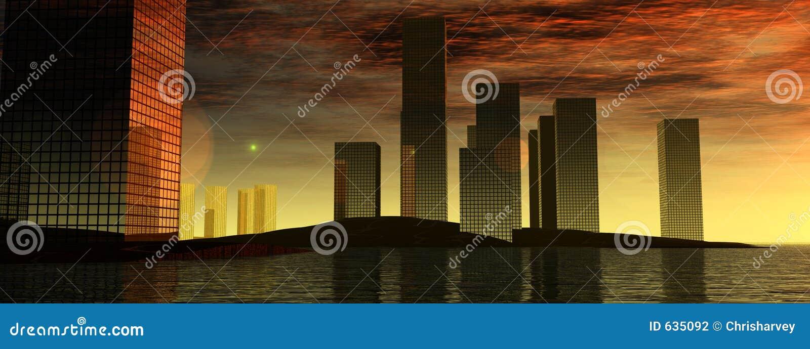 Download Город 11 воды иллюстрация штока. иллюстрации насчитывающей ново - 635092
