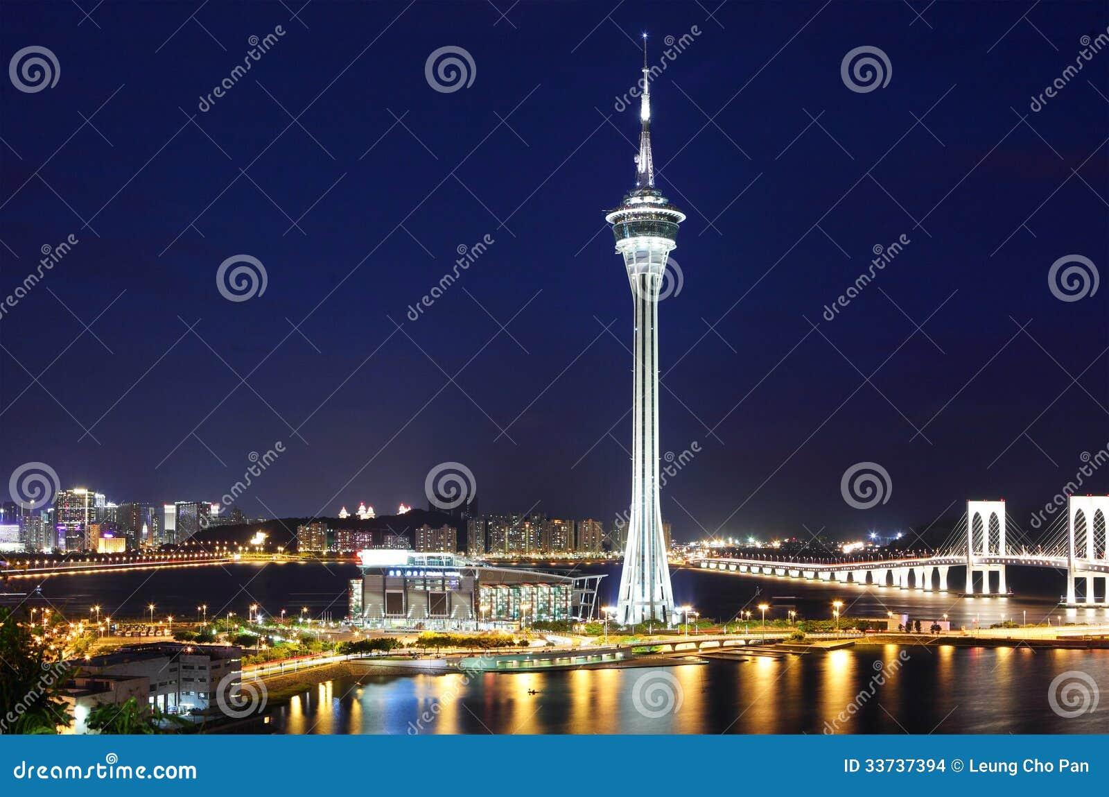 Город Макао на ноче