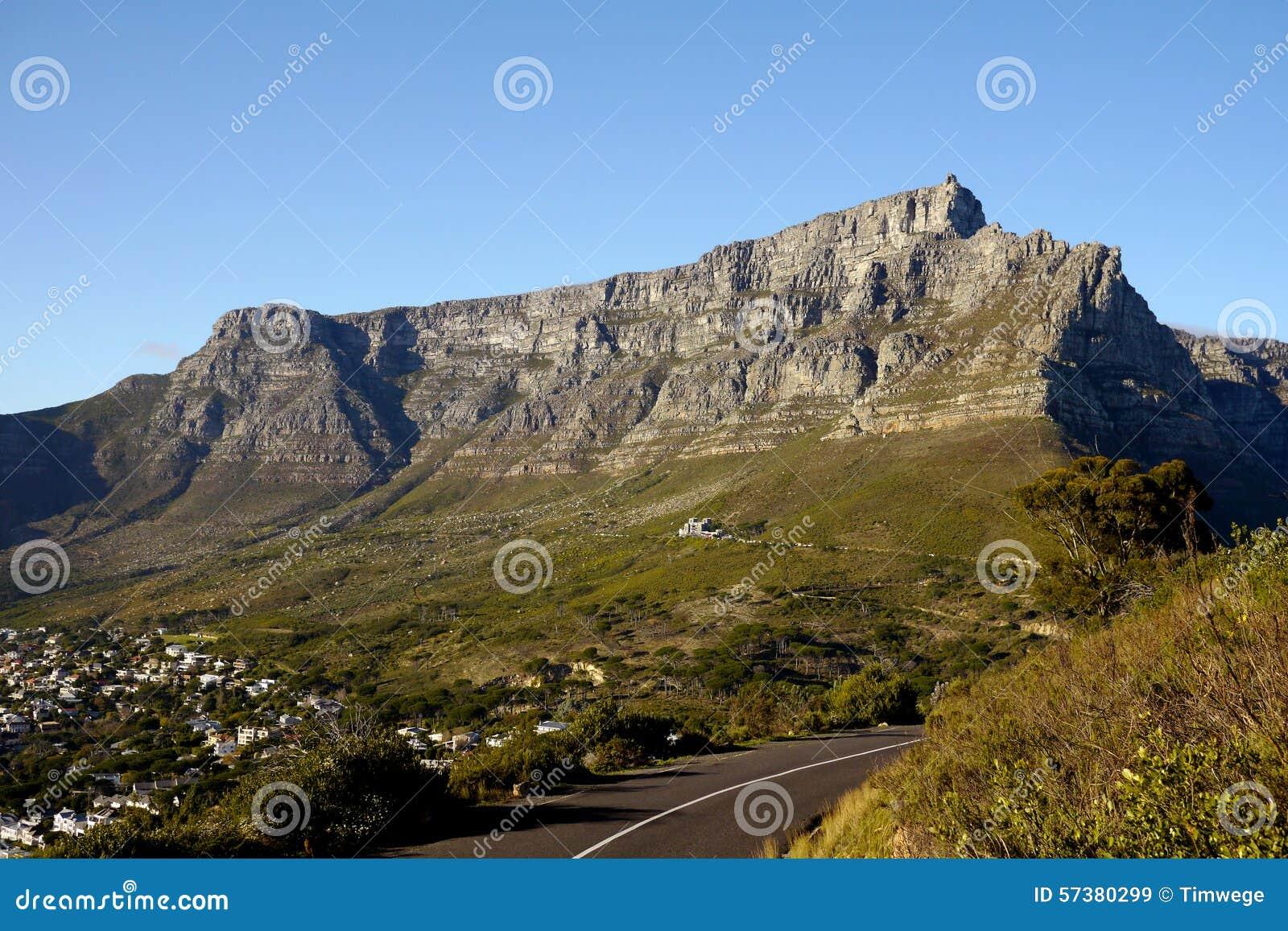 городок таблицы горы плащи-накидк Африки южный