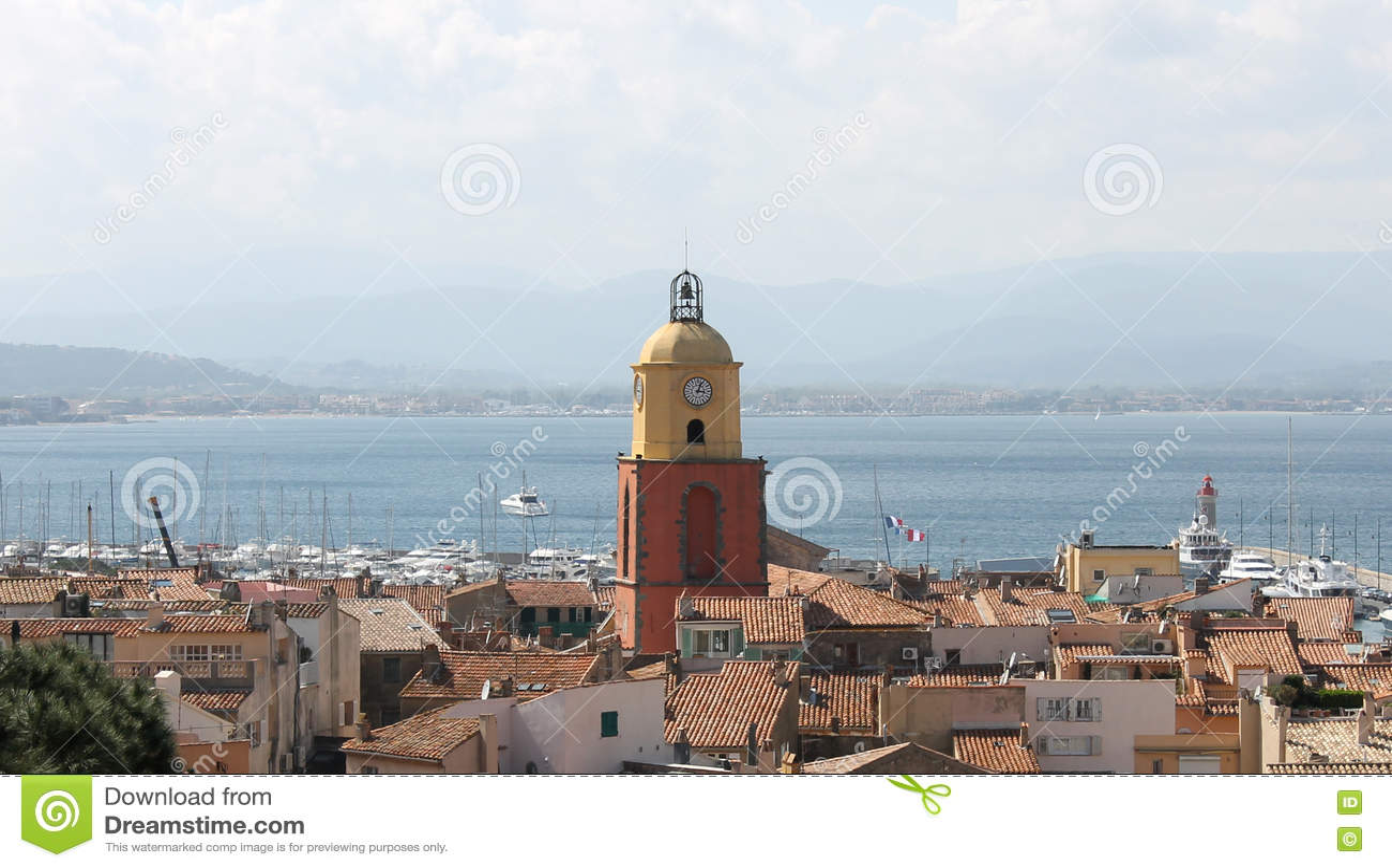 Городок St Tropez, Франция