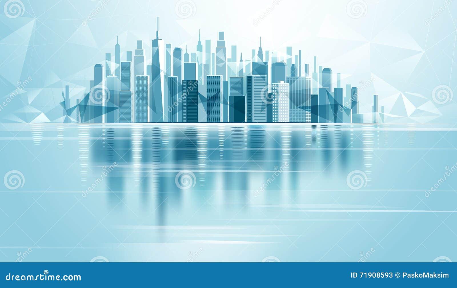 Городской город ландшафта