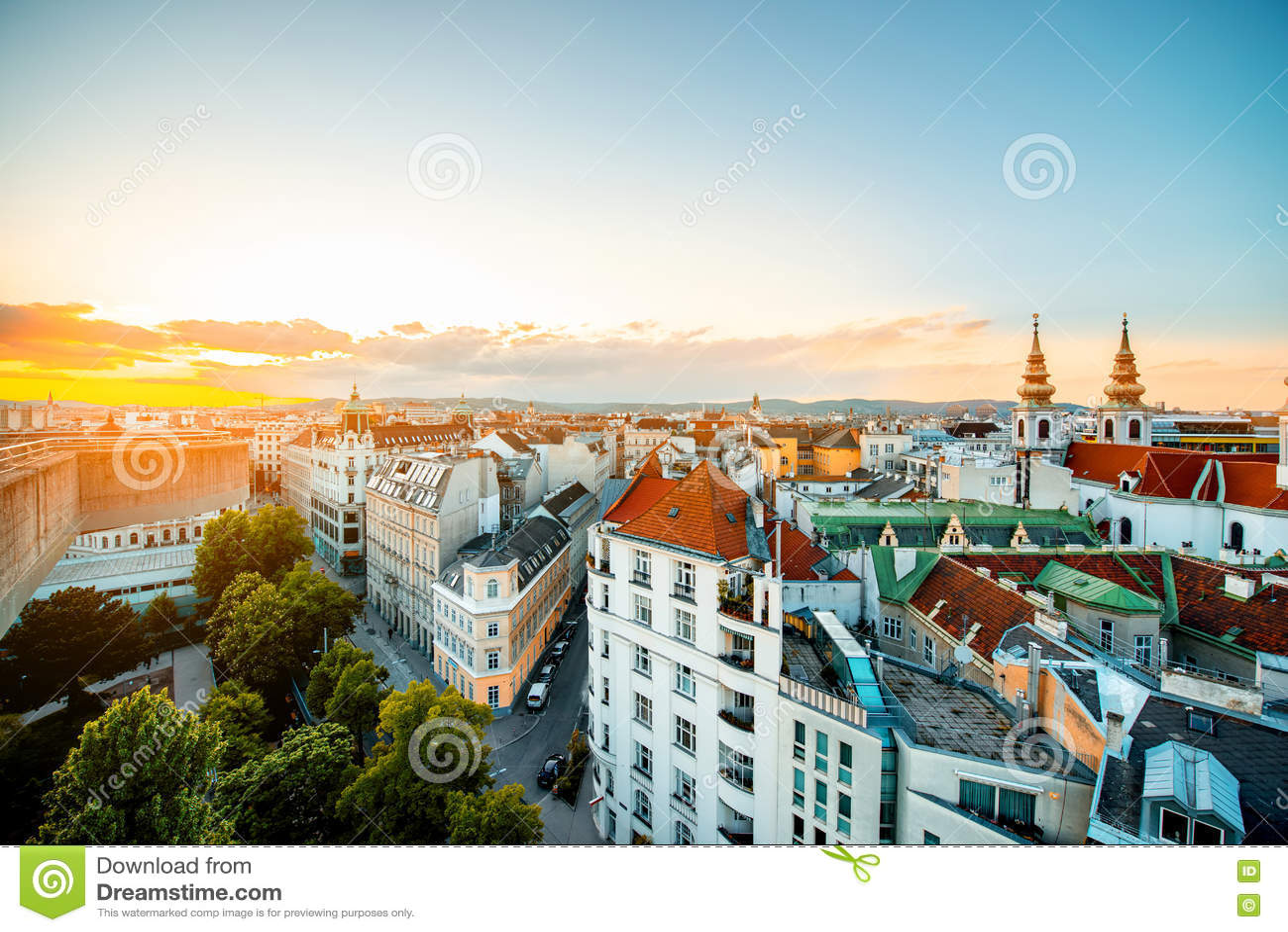 Городской пейзаж вены в Австрии