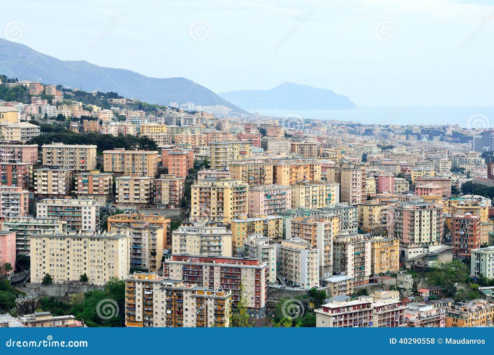 Городской пейзаж Генуи