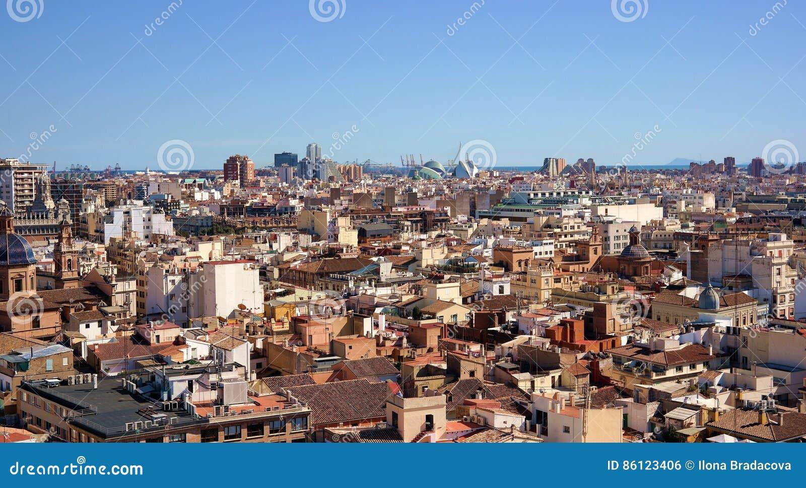 Городской пейзаж города Валенсии
