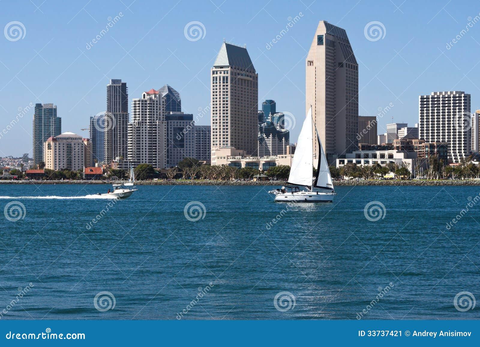 Городской пейзаж городского города Сан-Диего, США