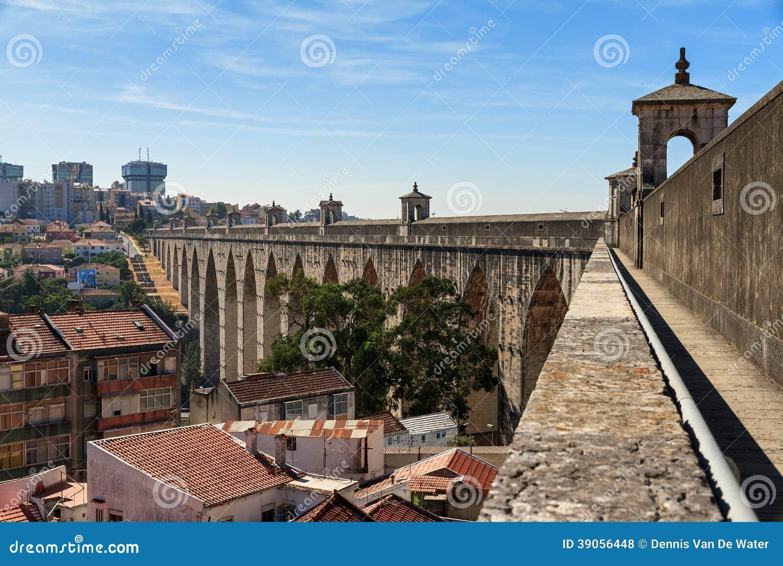 Городской пейзаж мост-водовода