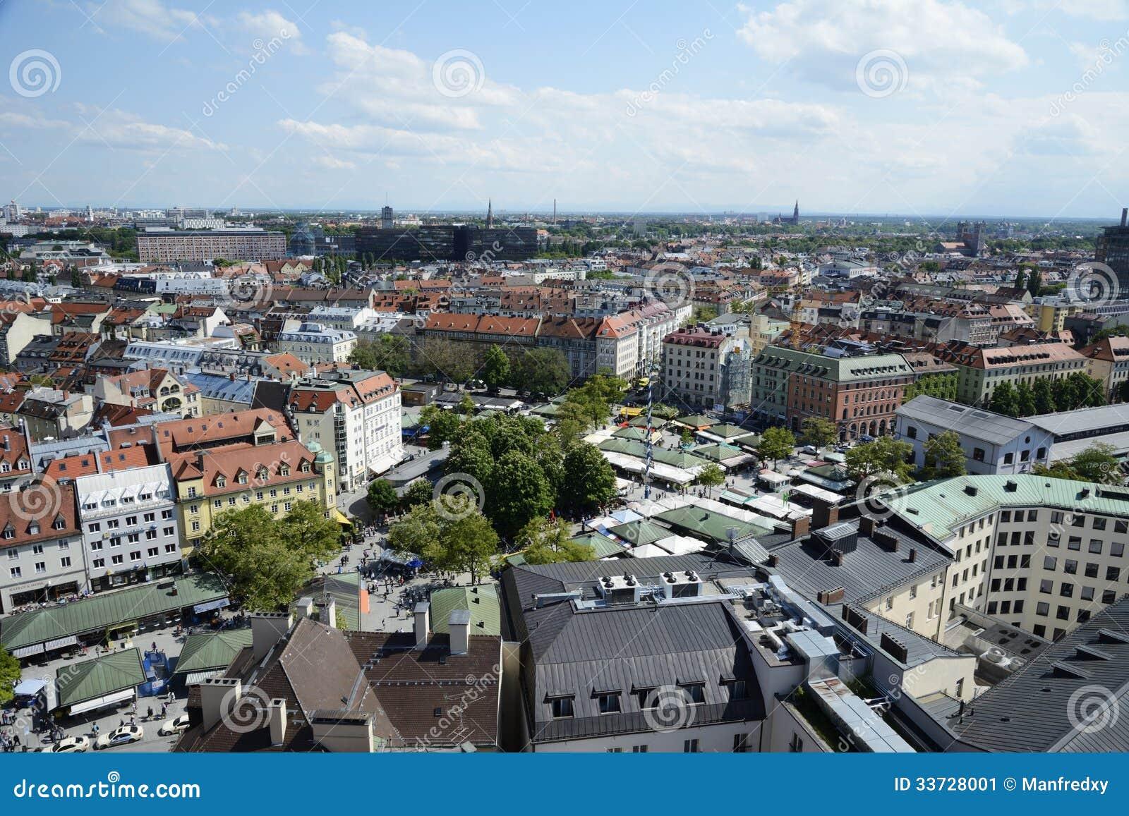 Городской пейзаж Мюнхена