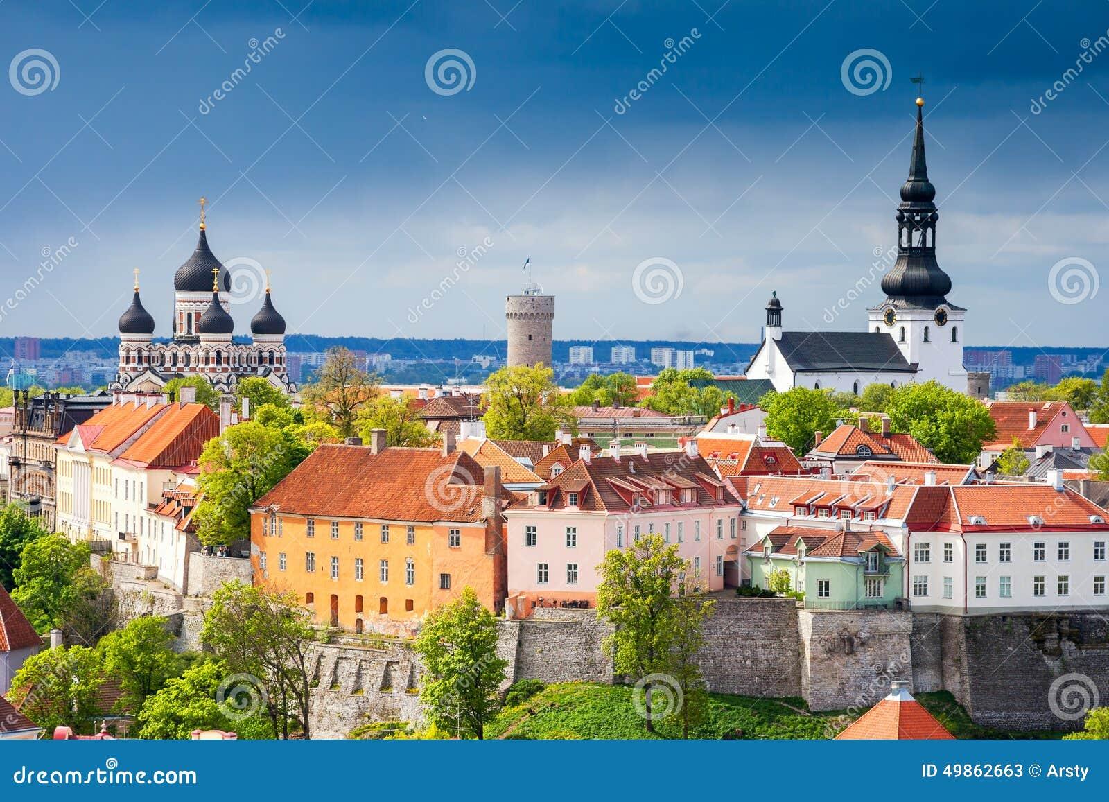 городской пейзаж эстония tallinn эстония