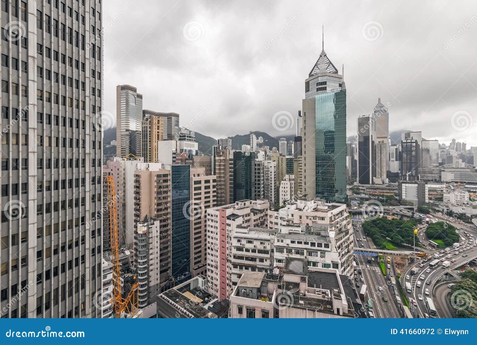 городской пейзаж Hong Kong