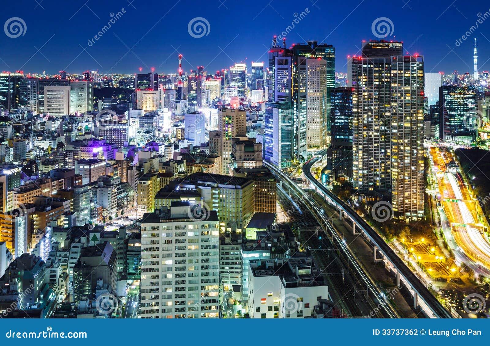 Город токио на ноче