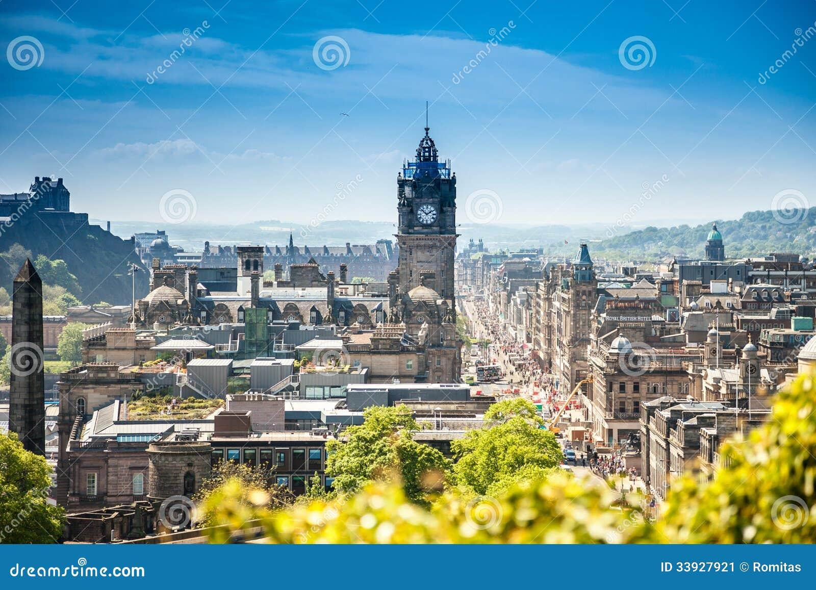 Город Шотландия Эдинбурга