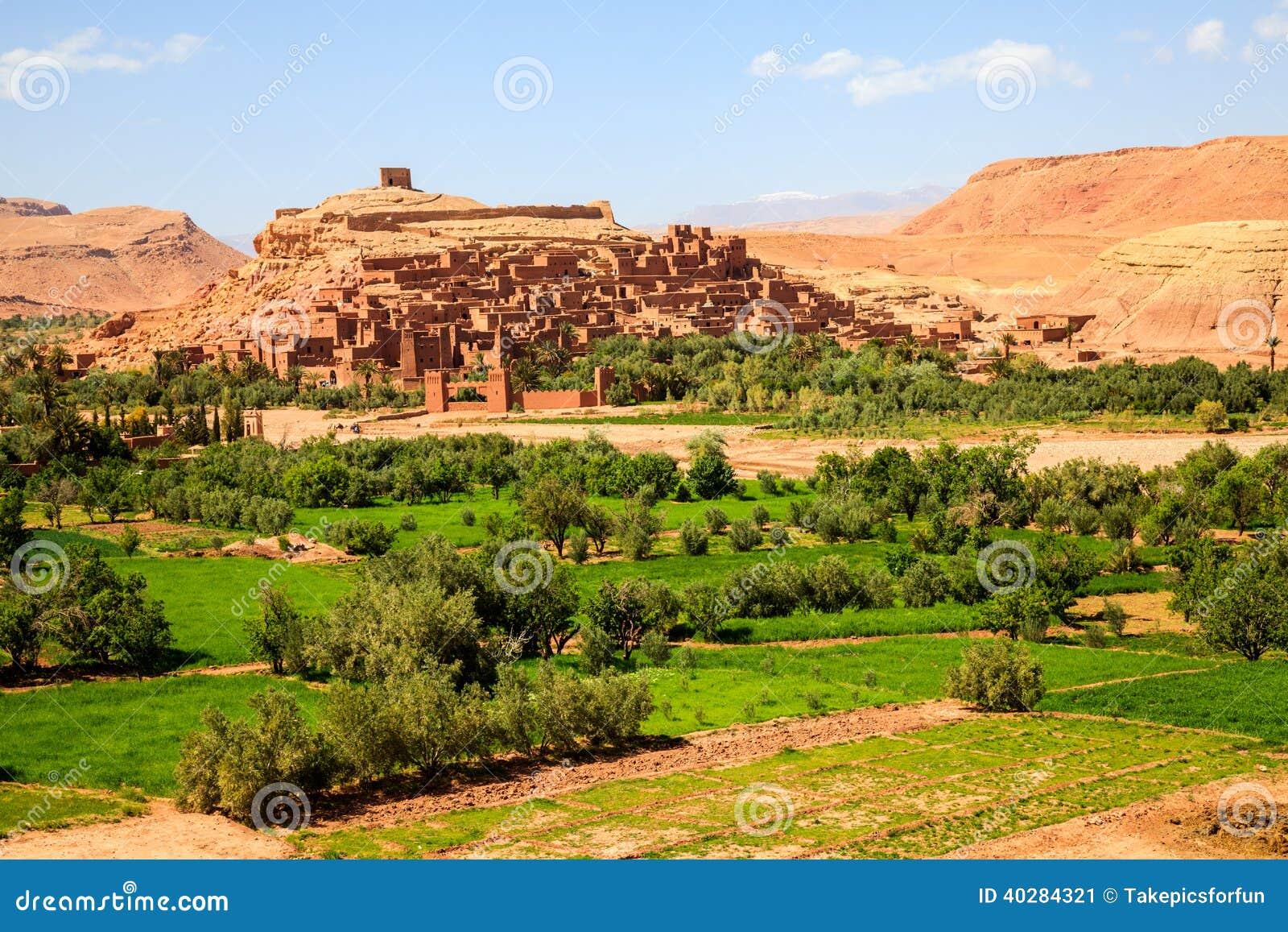 Город Ait укрепленный benhaddou