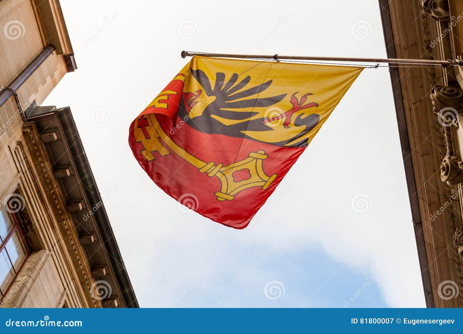 город geneva Швейцария Флаг с гербом