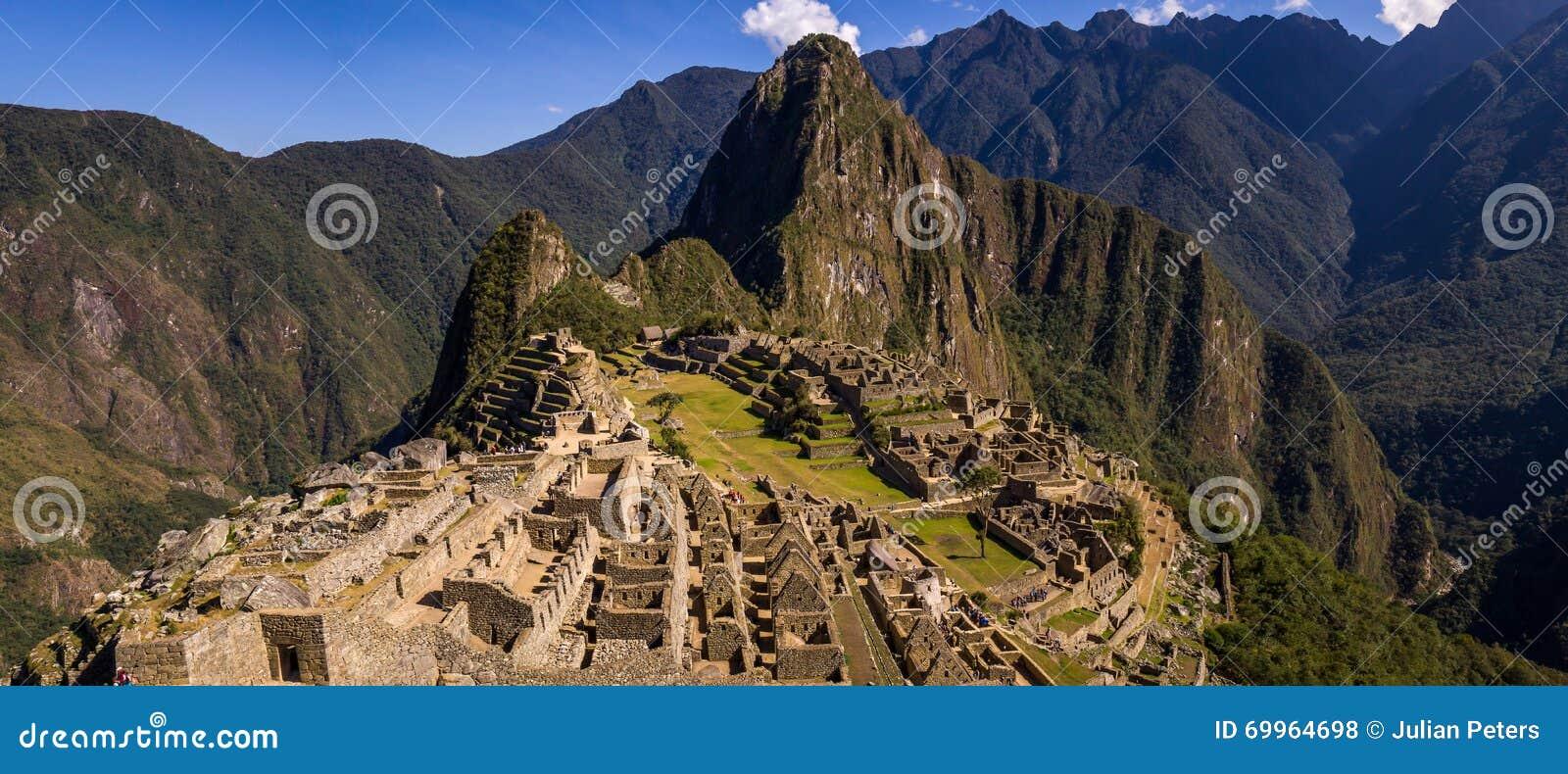 Город Inca Machu Picchu