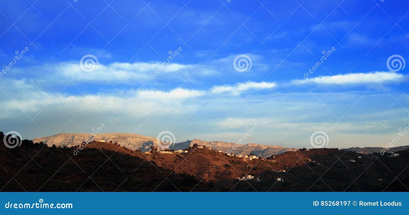 Горы ландшафта в Малаге
