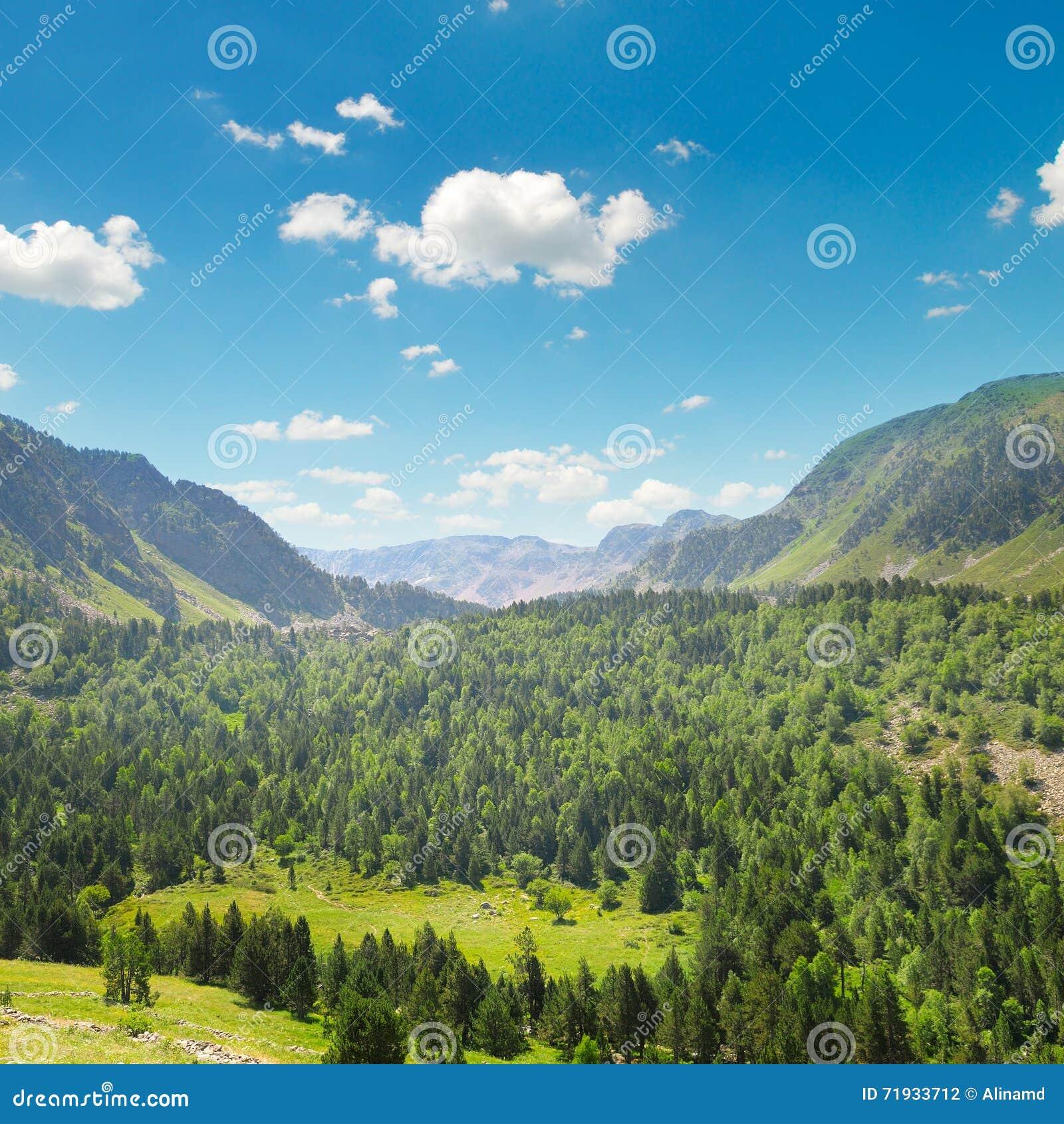 Горы и голубое небо