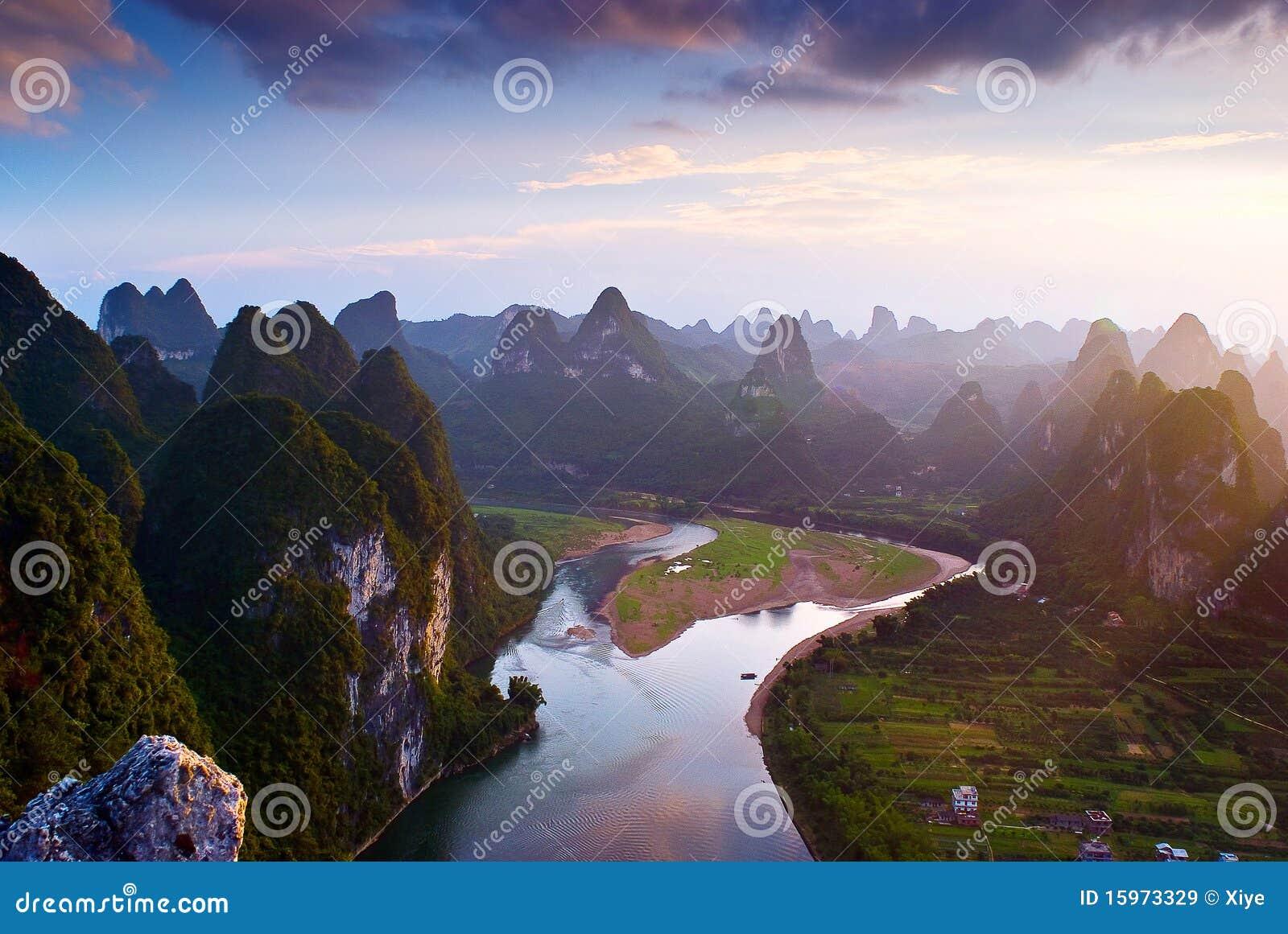 горы guilin