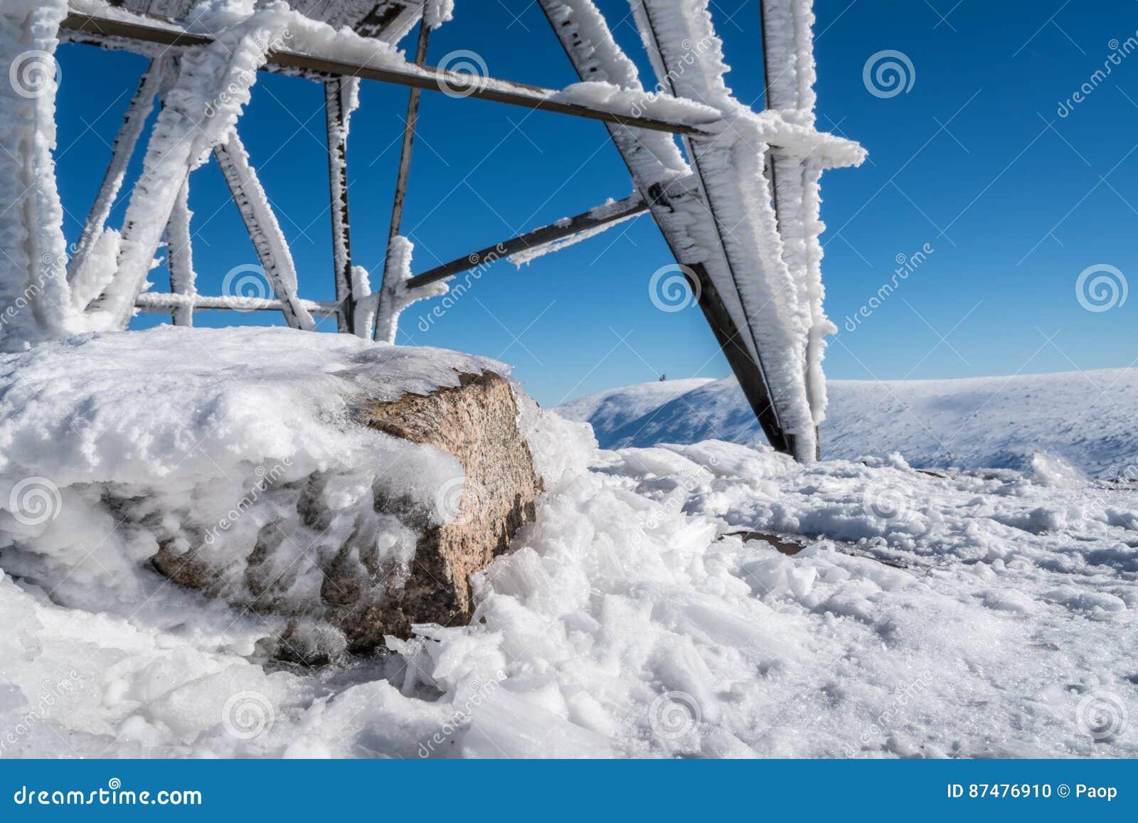 Горы Karkonosze в зиме