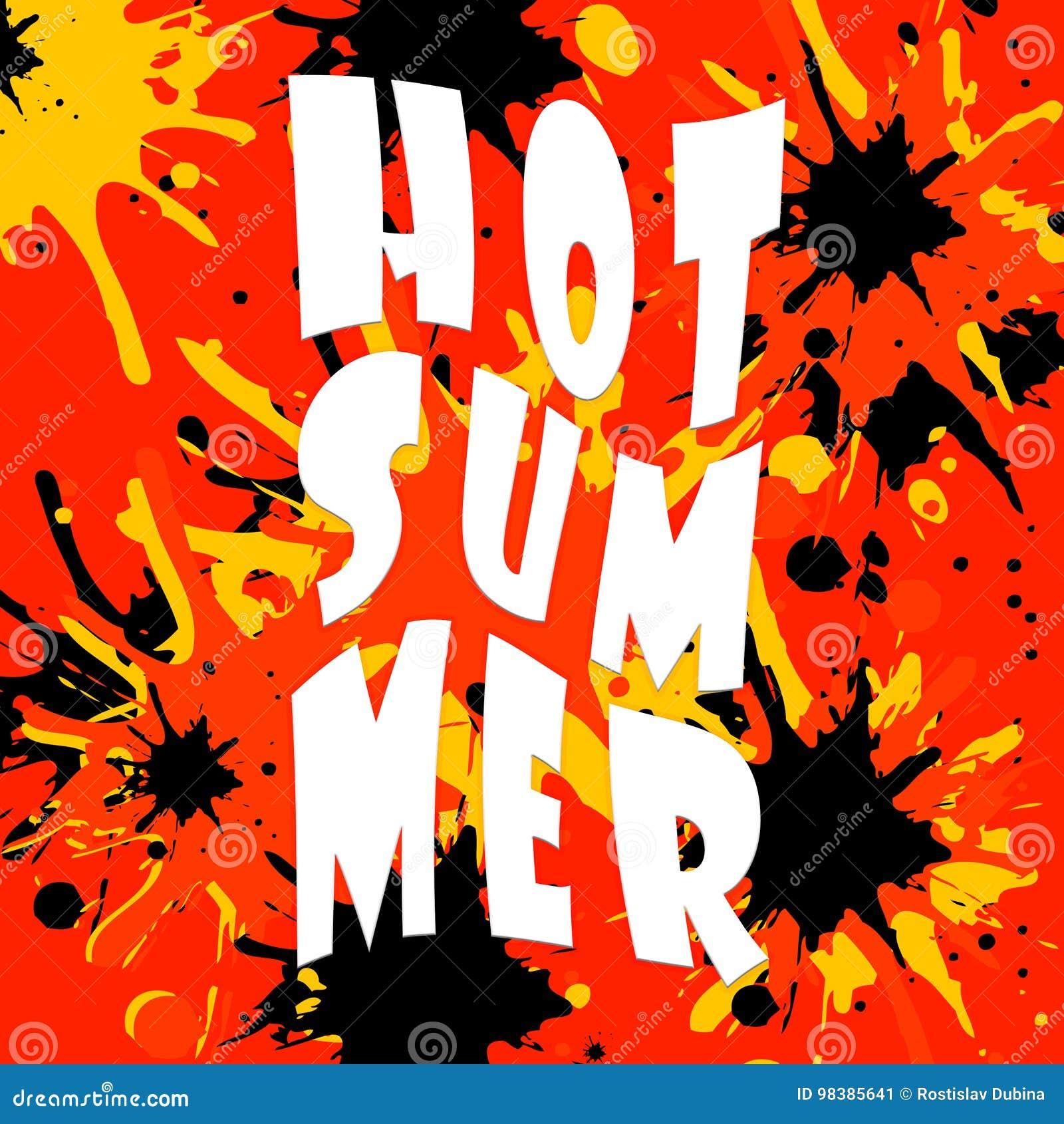 Горячая иллюстрация лета на предпосылке цвета Цитата потехи Вручите помечать буквами вдохновляющий плакат оформления на предпосыл