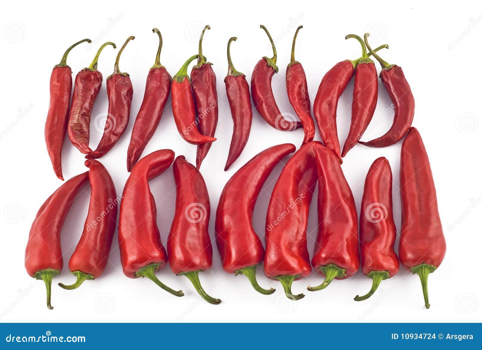 горячий красный цвет паприки