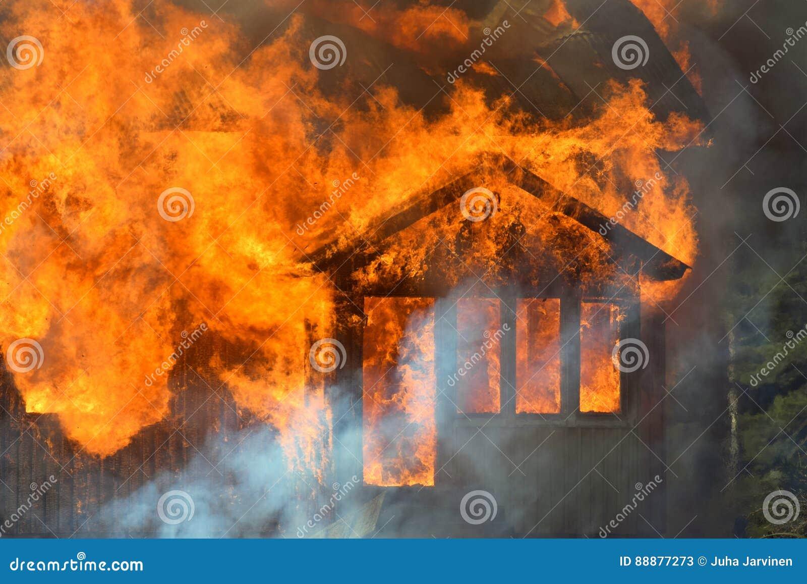 горящая дом
