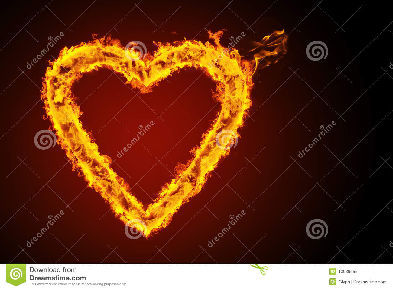 горящее сердце
