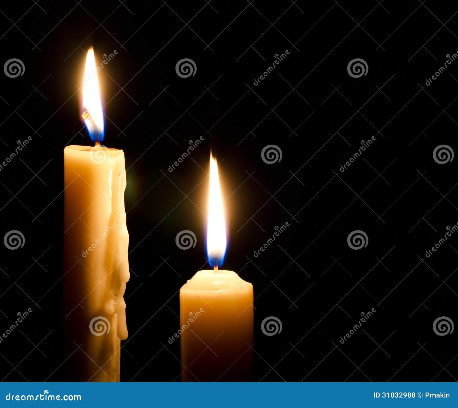 Фото горящей свечи