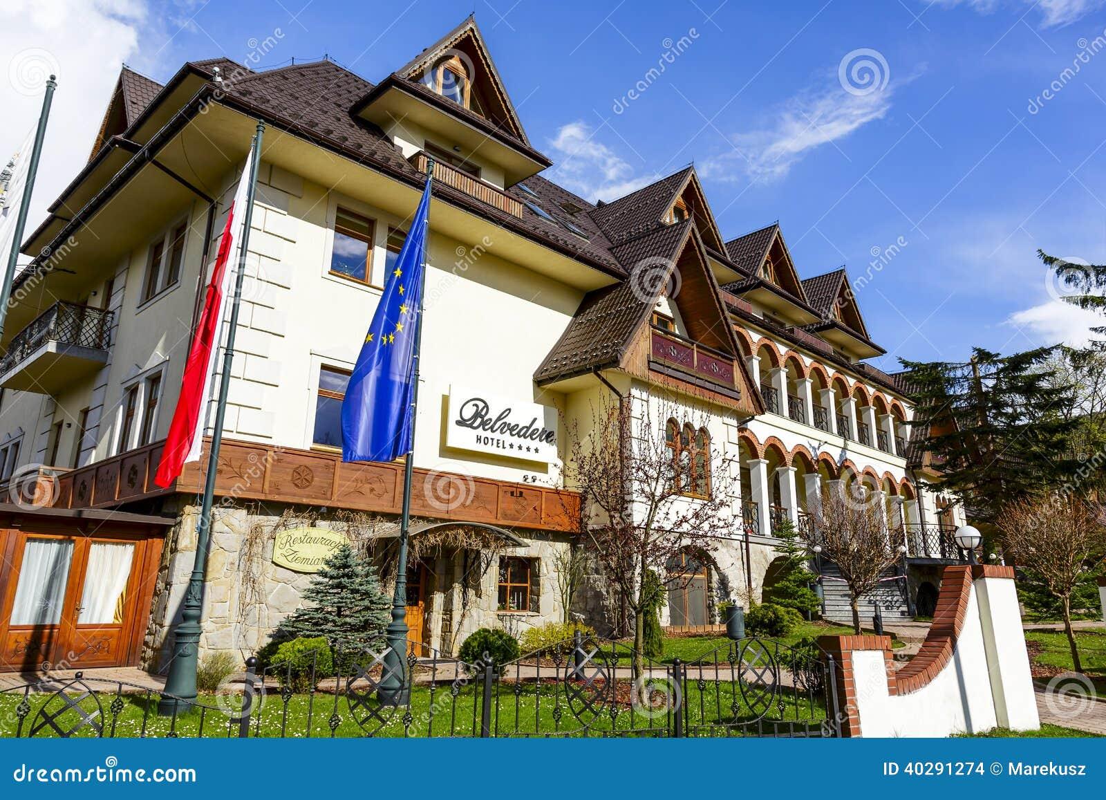 Гостиница бельведера в Zakopane