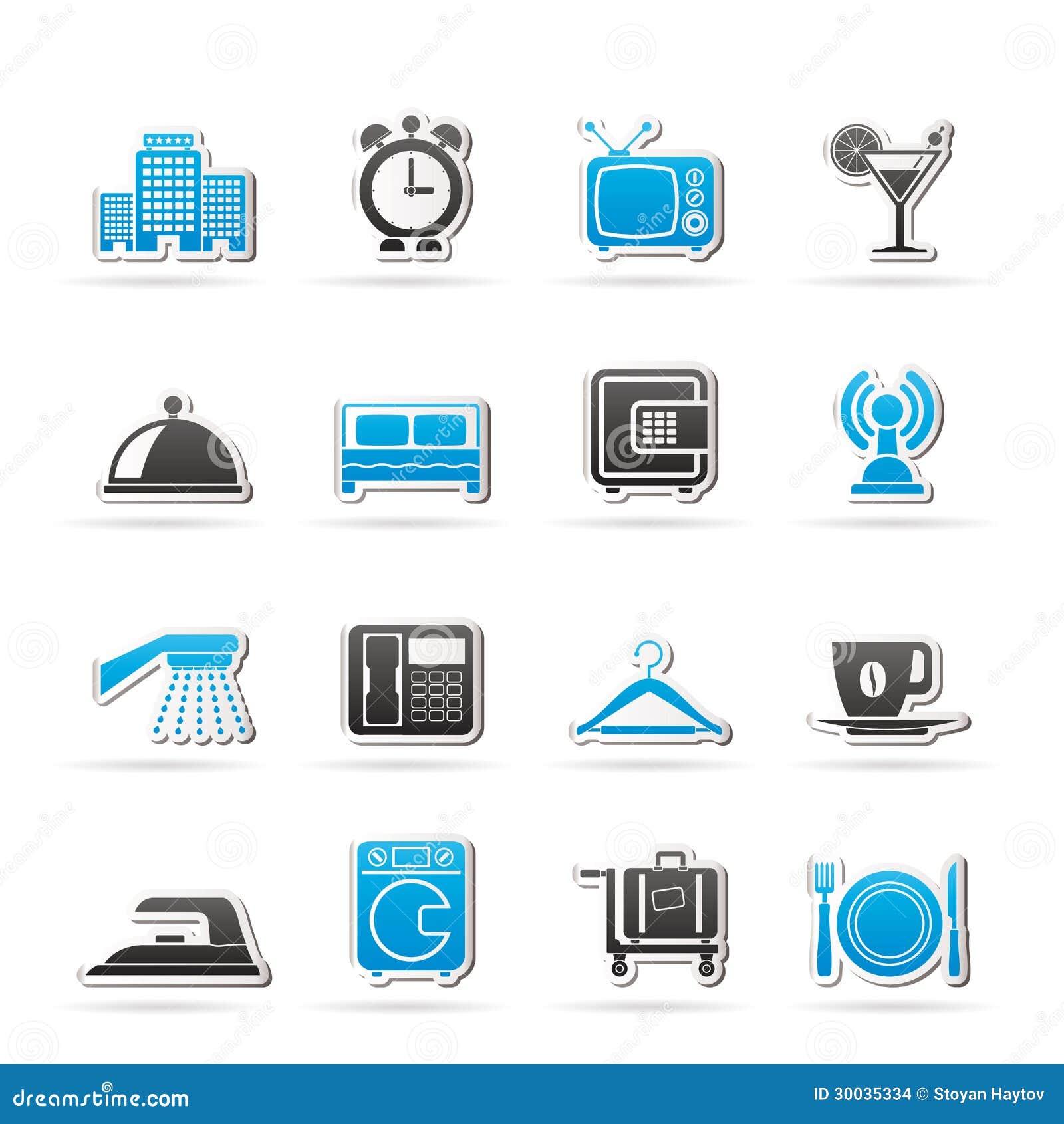 Гостиница, мотель и иконы перемещения