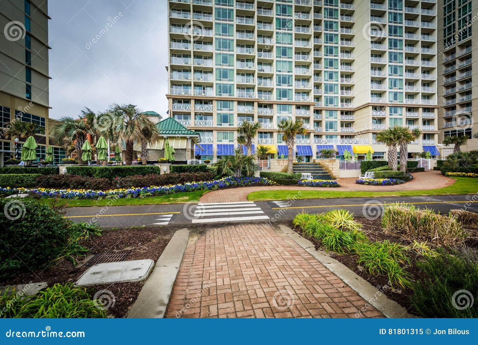 Гостиницы дорожки и oceanfront в Virginia Beach, Вирджинии