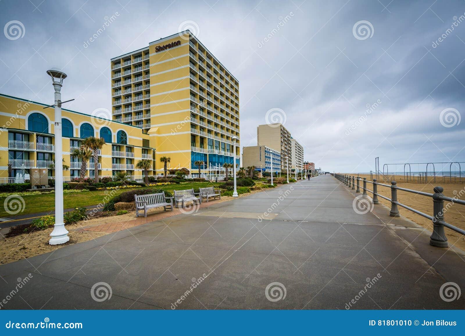 Гостиницы променада и highrise в Virginia Beach, Вирджинии