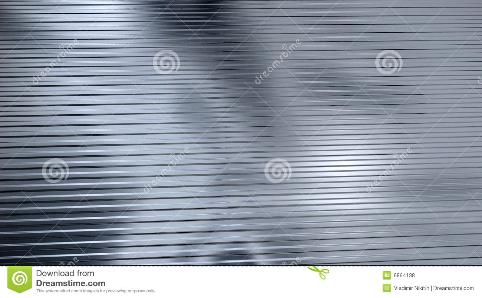 гофрированный лист светлого металла отражая