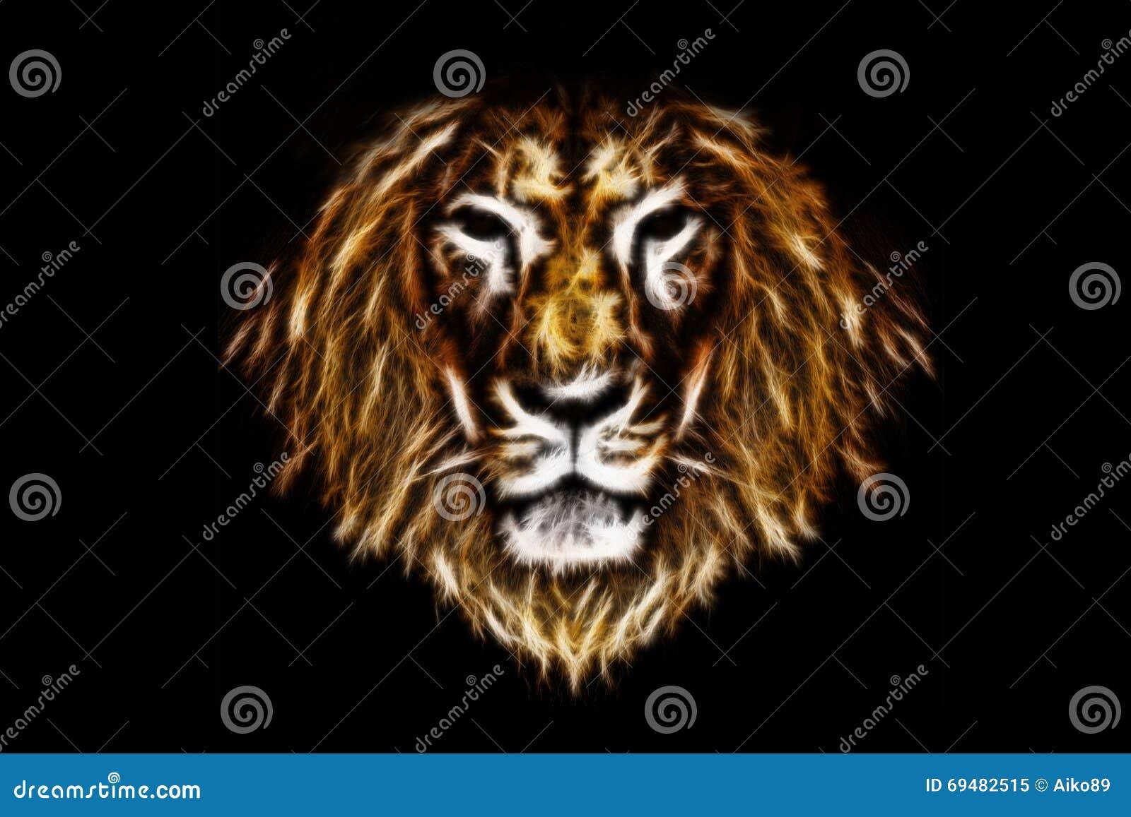 Голова льва огня