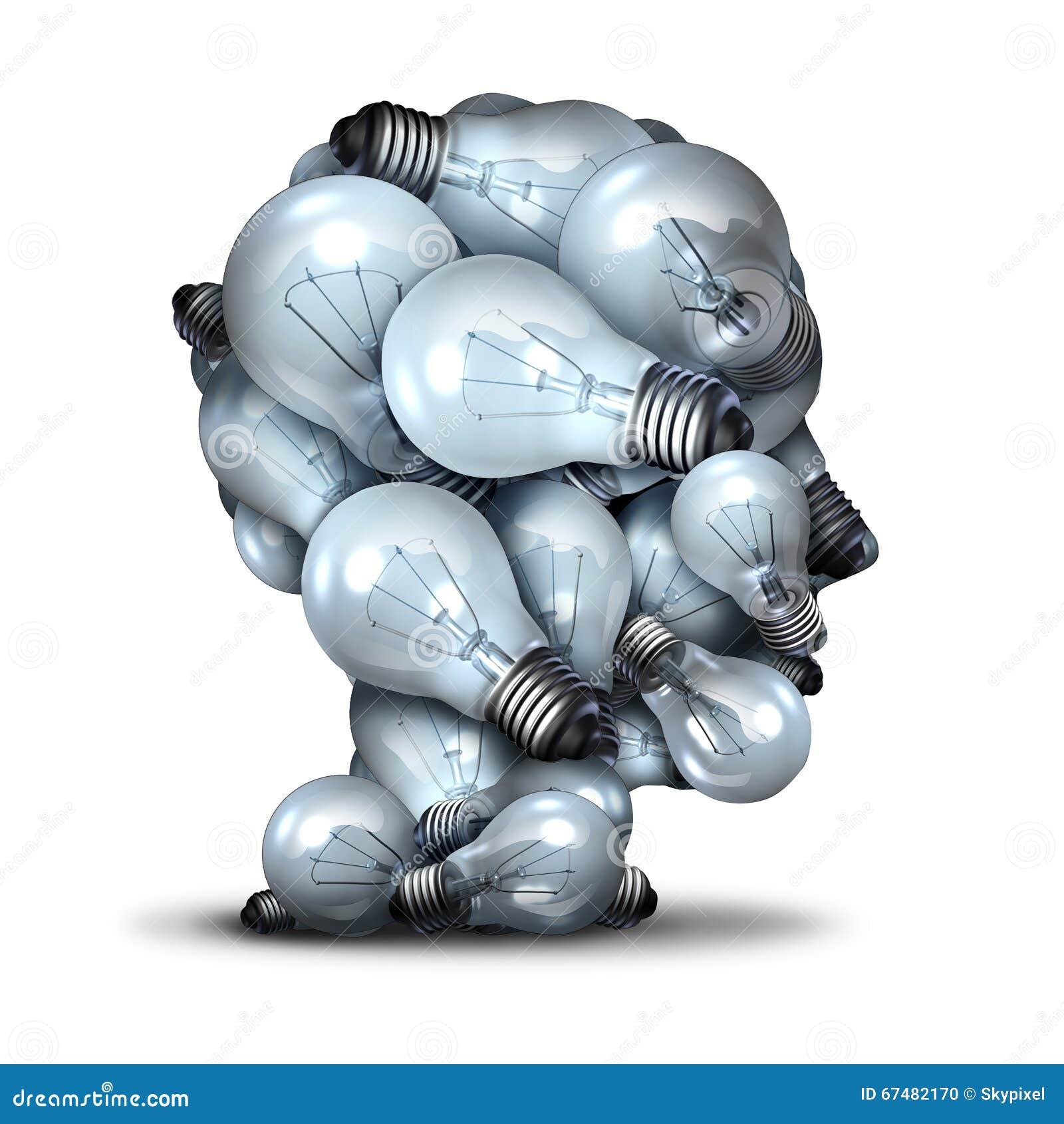 Голова электрической лампочки