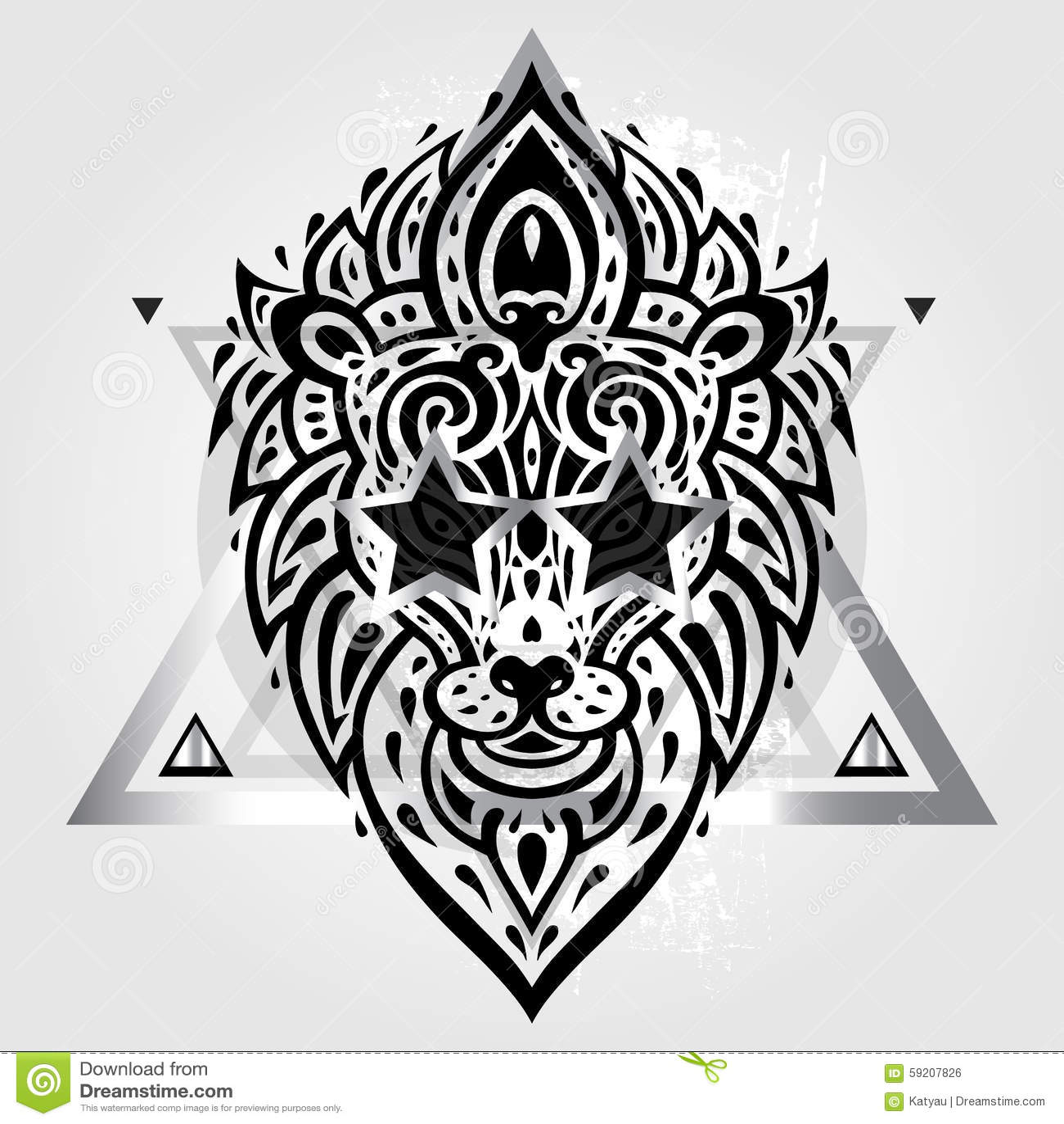 Тату эскизы лапа льва