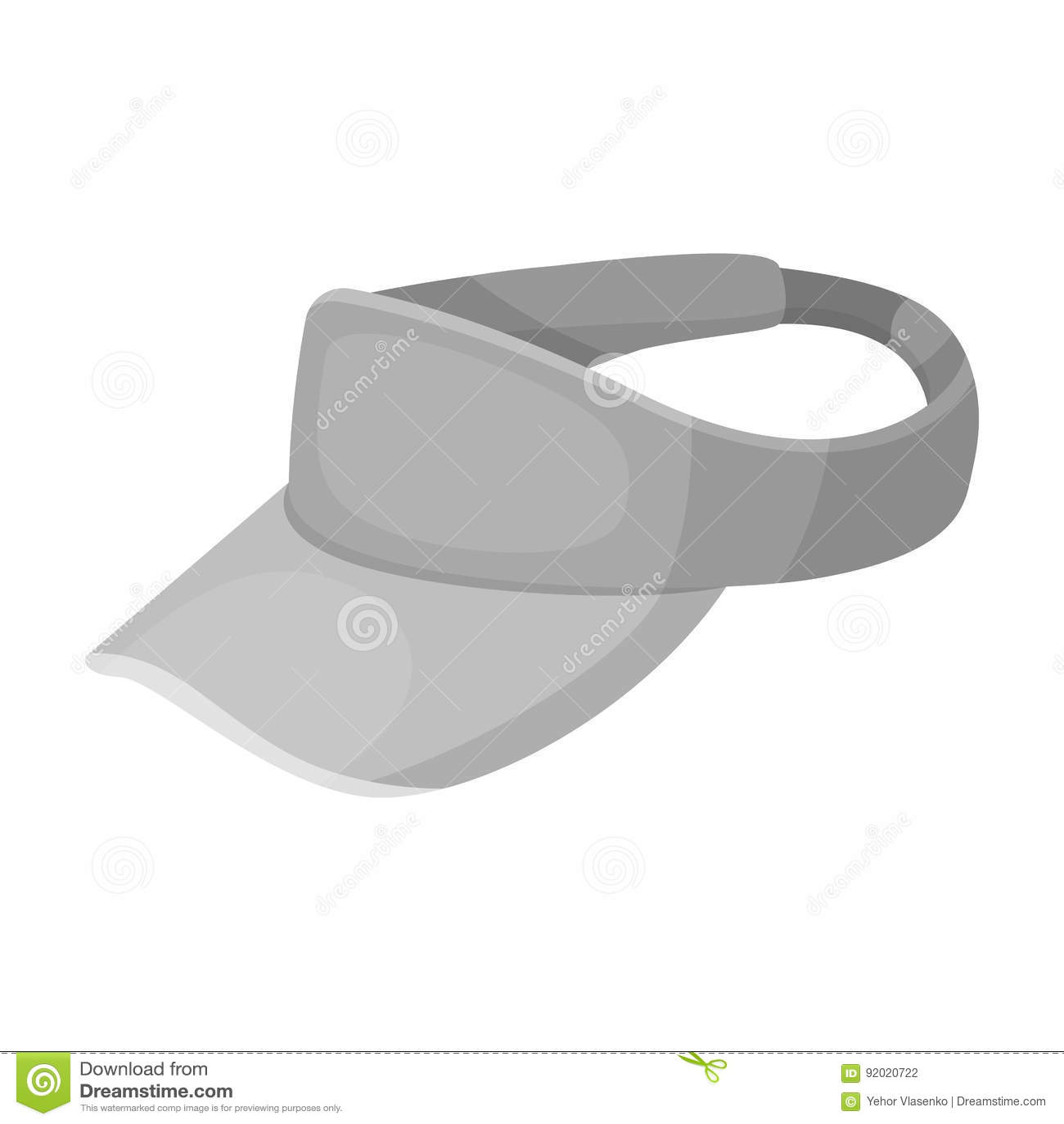 Головной убор ` s игрока в гольф Значок гольф-клуба одиночный в monochrome сети иллюстрации запаса символа вектора стиля