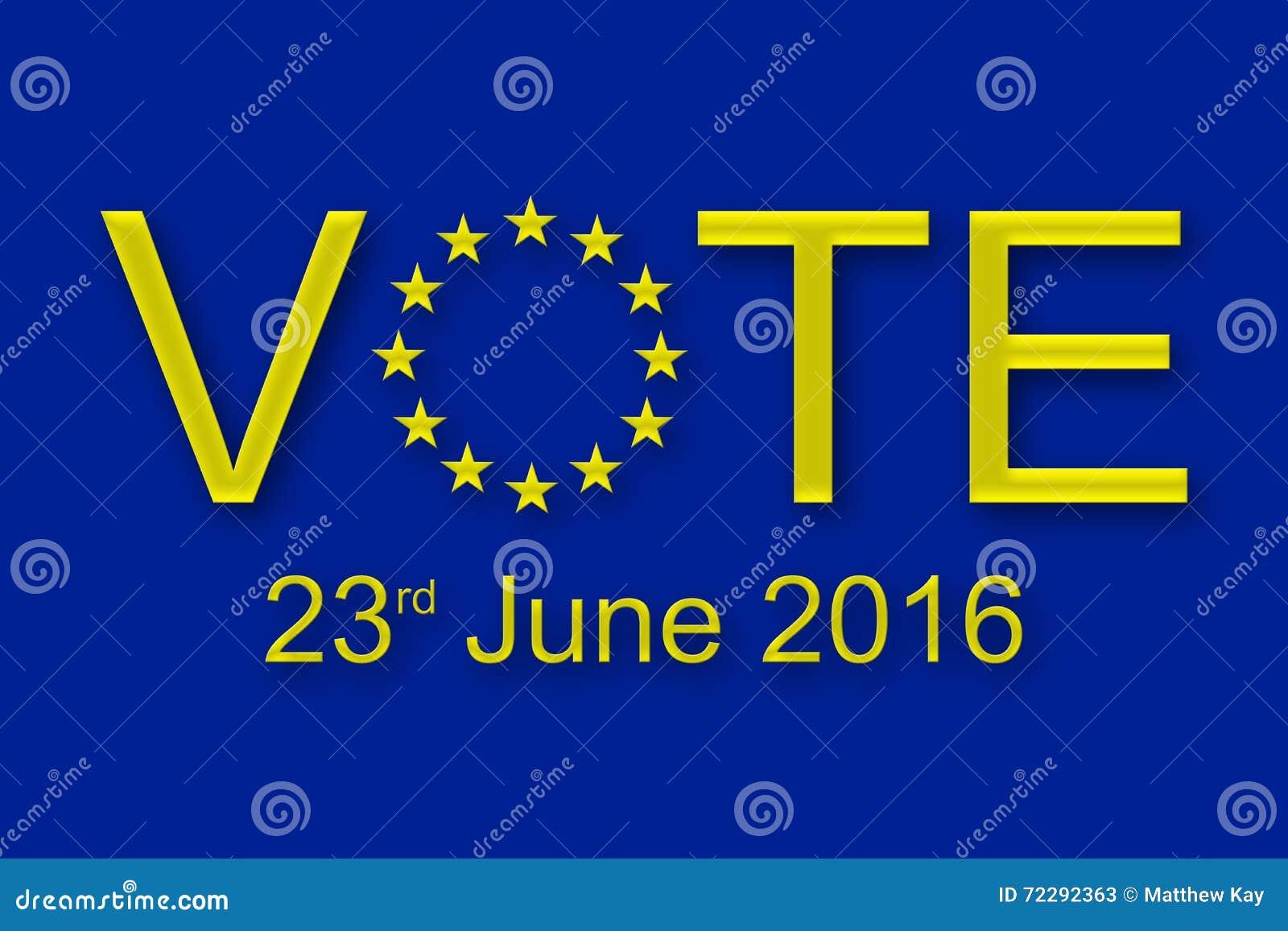 Download Голосование 23-его июня 2016 Стоковое Изображение - изображение насчитывающей звонок, община: 72292363