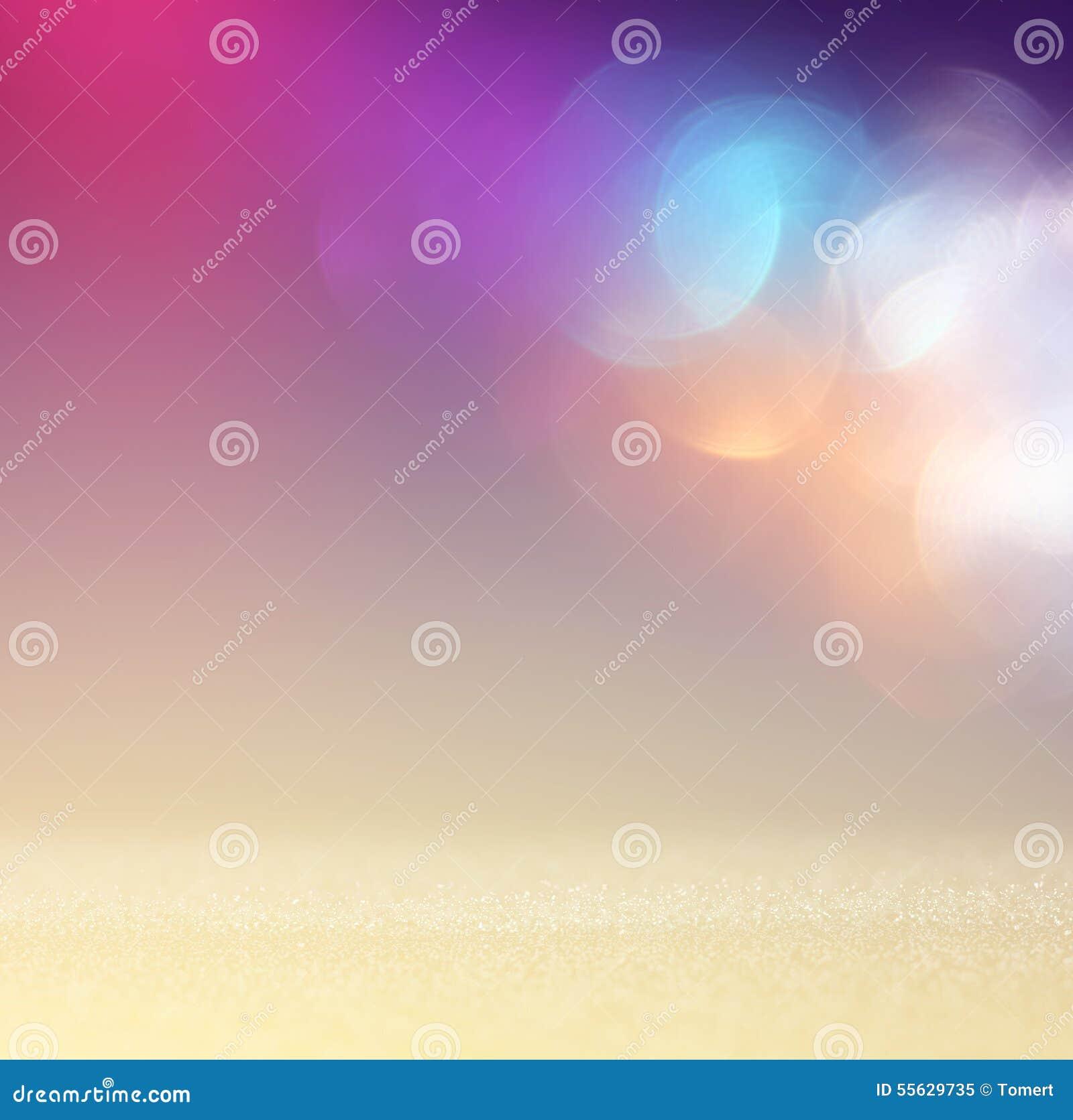 Год сбора винограда яркого блеска освещает предпосылку светлый серебр, пурпур, синь, золото и чернота defocused