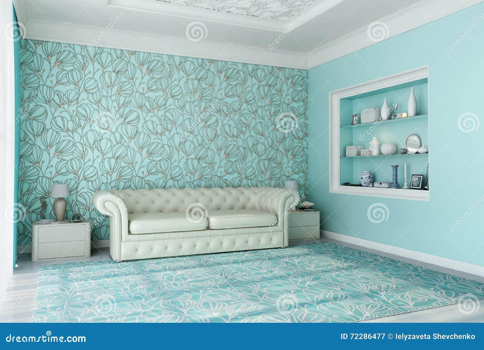 Download Голубая живущая комната 2 иллюстрация штока. иллюстрации насчитывающей дом - 72286477