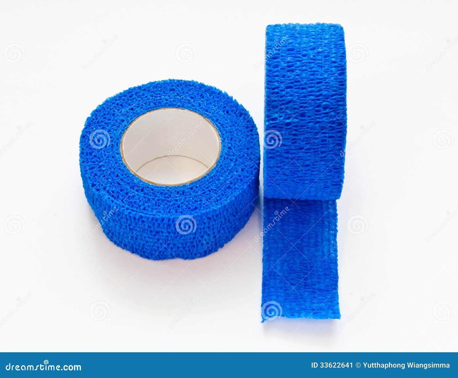 Голубая эластичная медицинская повязка
