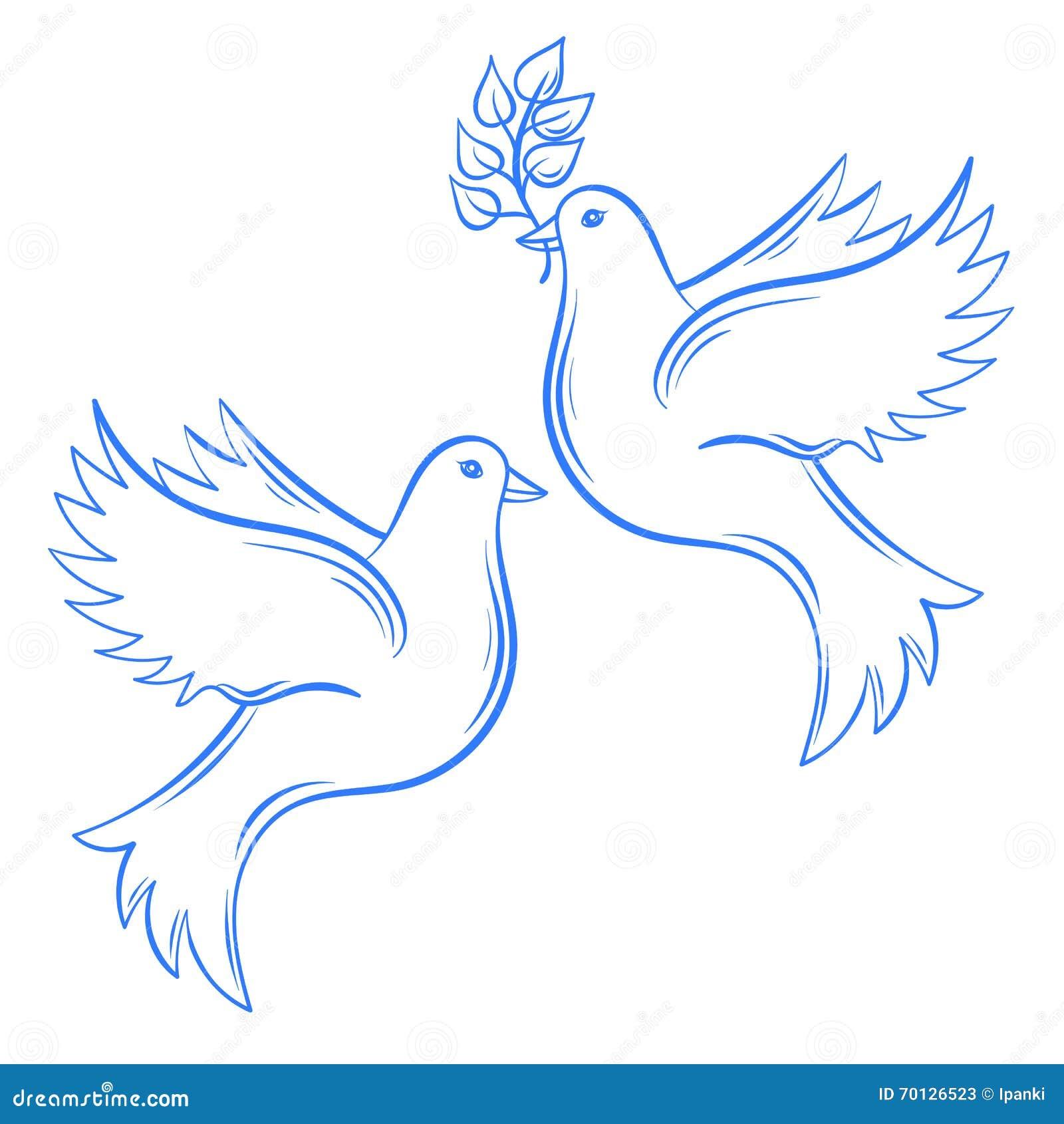 Картинки с нарисованными голубями