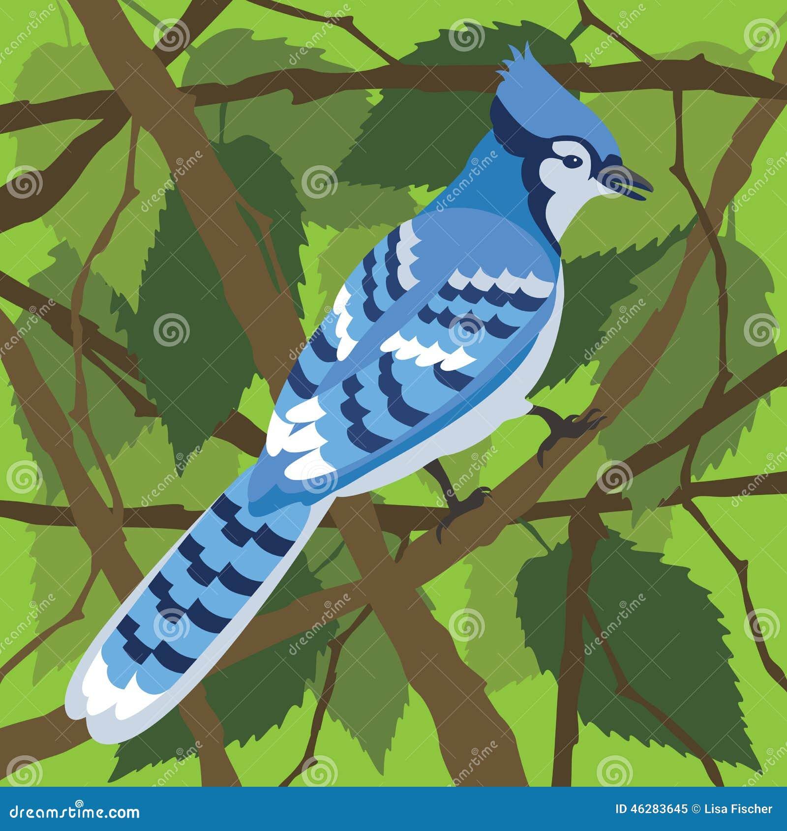 Голубое Джэй в дереве