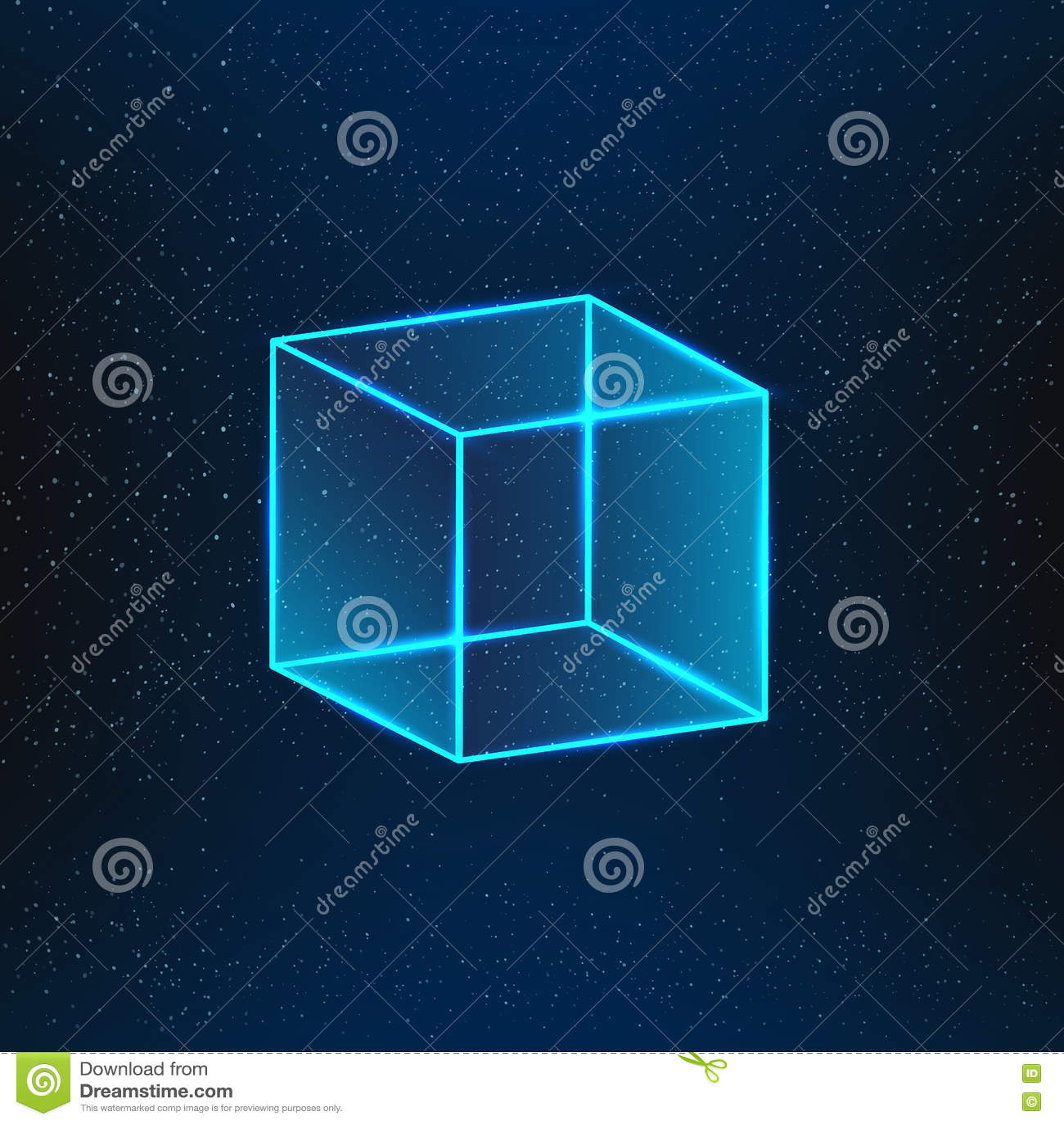 голубое стекло кубика
