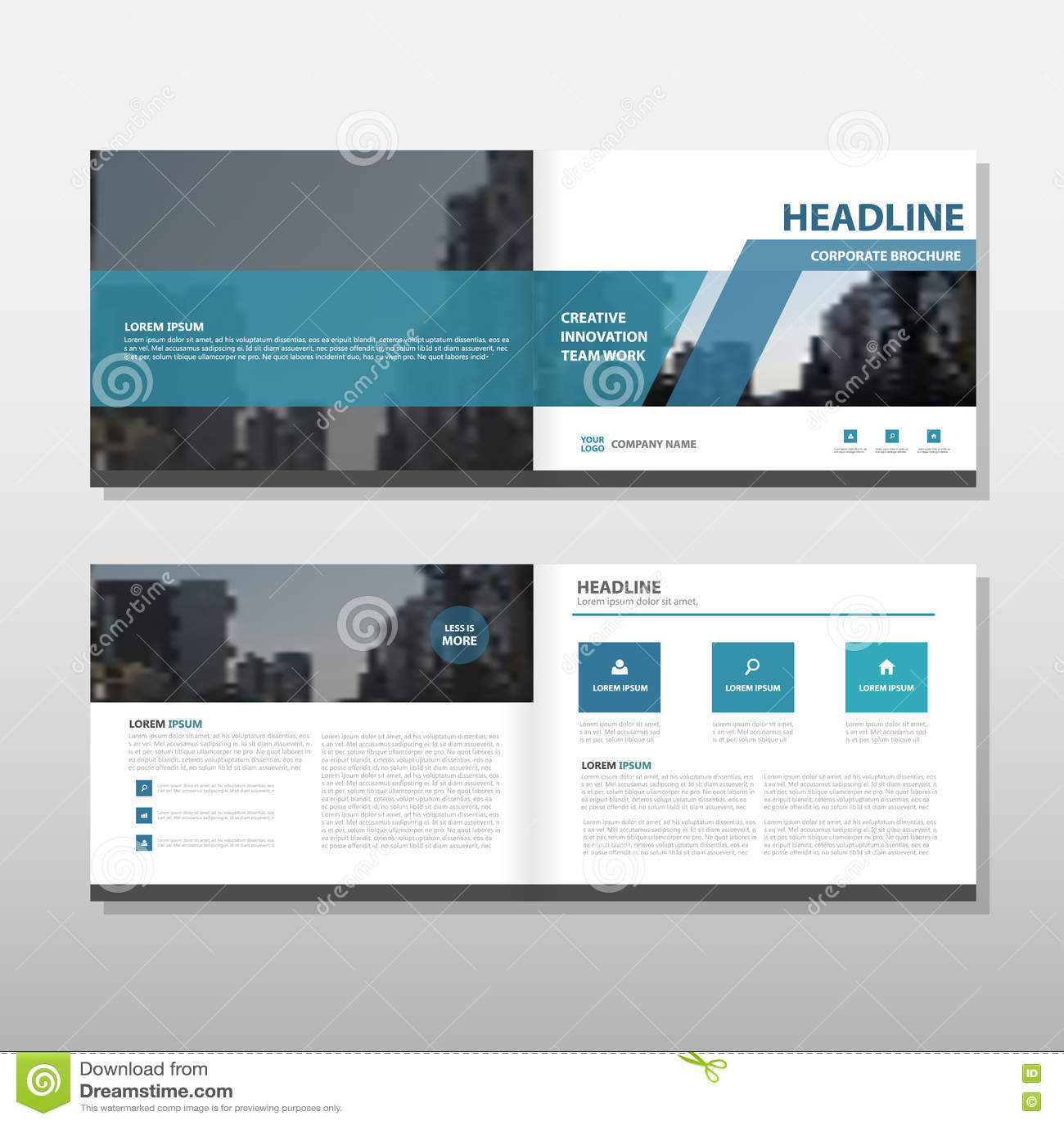 Голубой дизайн шаблона годового отчета рогульки листовки брошюры вектора, дизайн плана обложки книги, абстрактное представление д