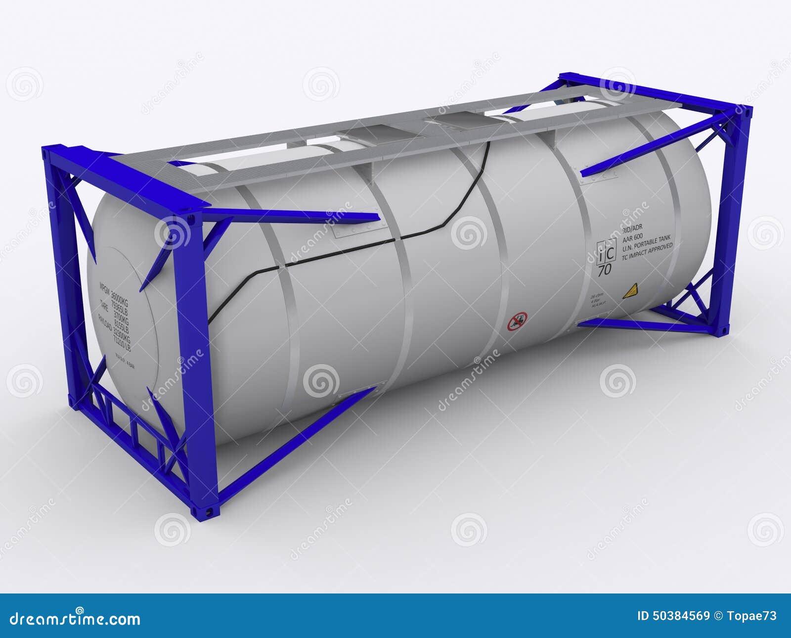 Голубой контейнер танка
