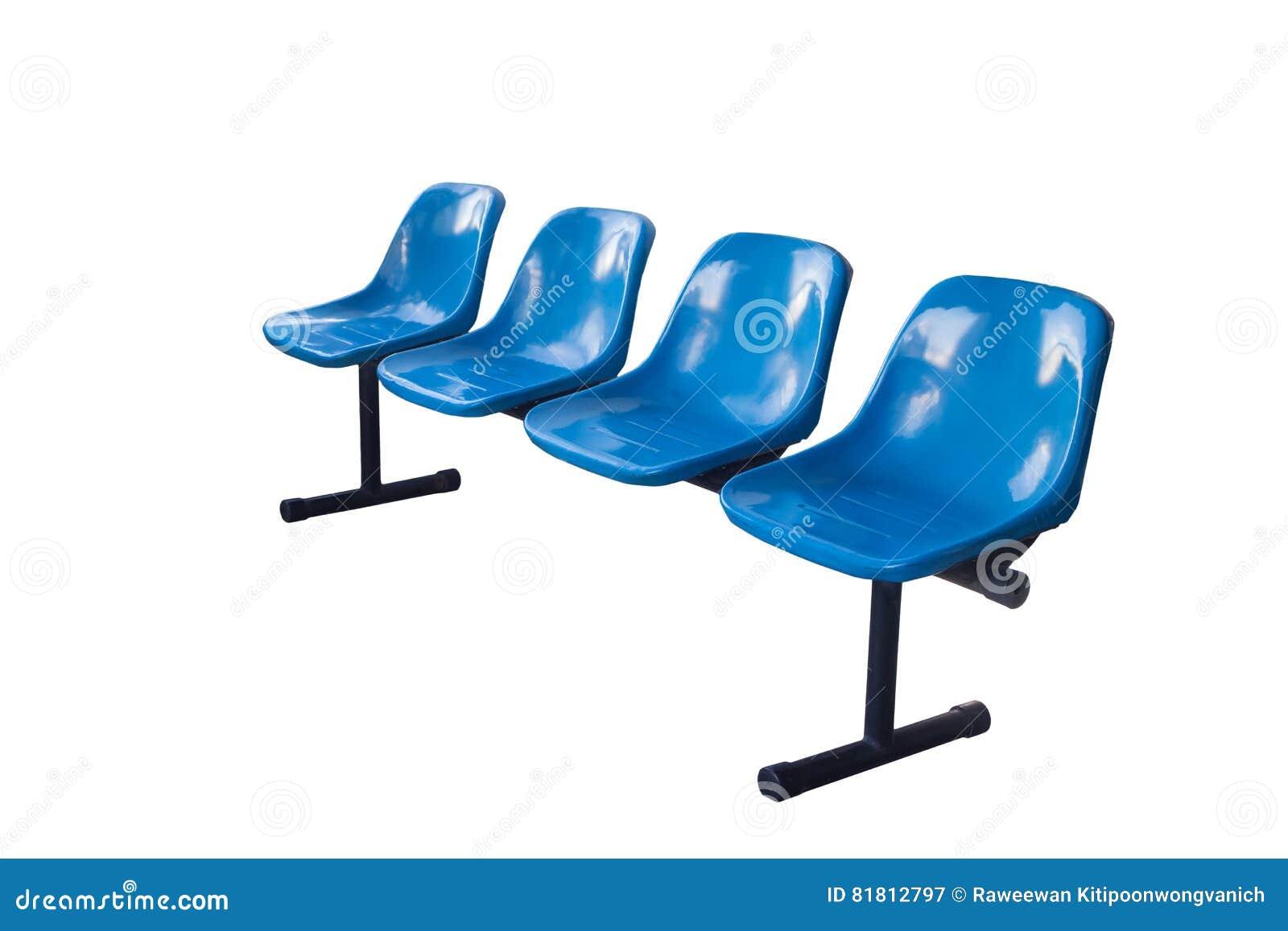 Голубой стенд для места ожидания с путем клиппирования