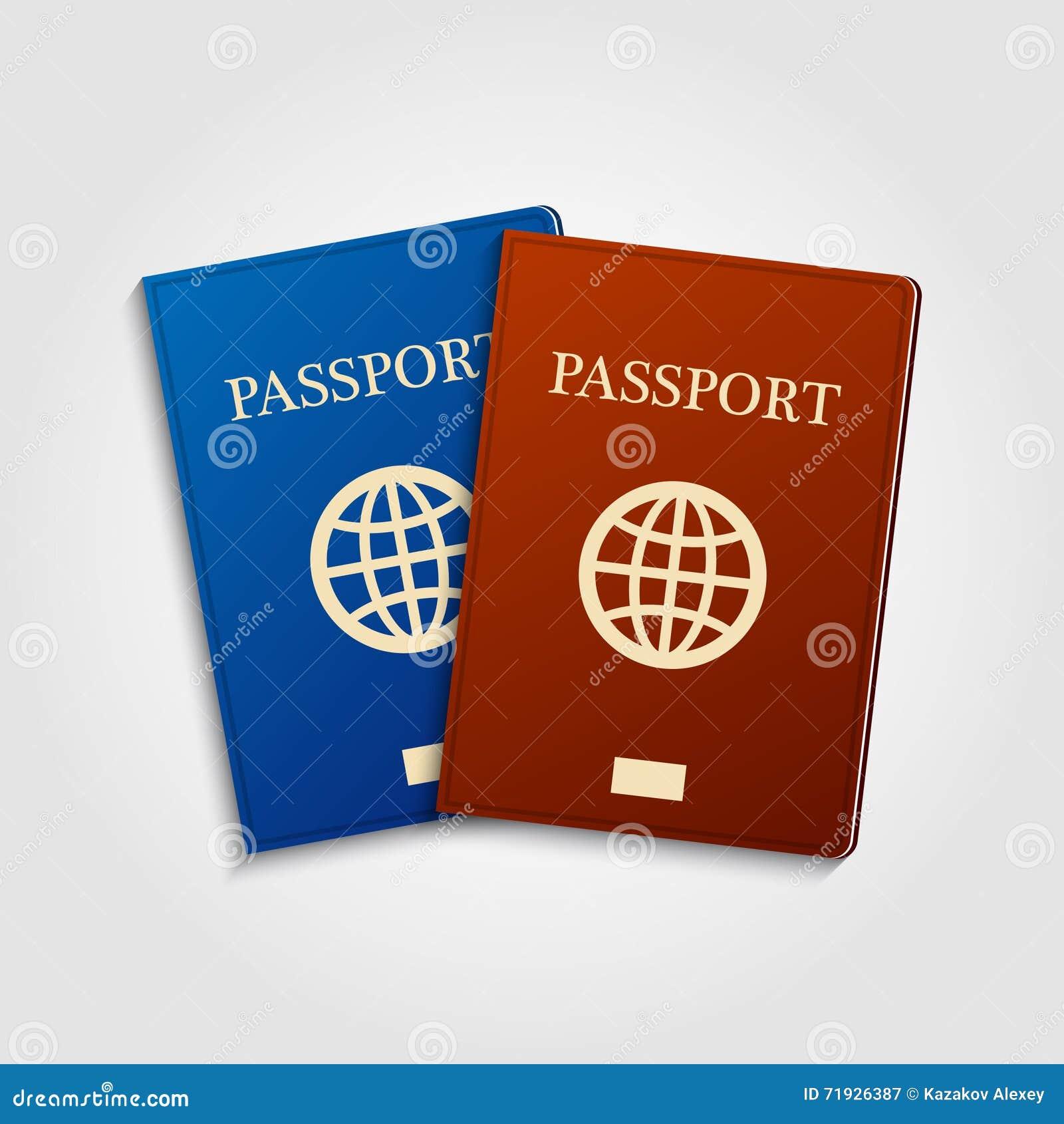 Голубые и красные пасспорты