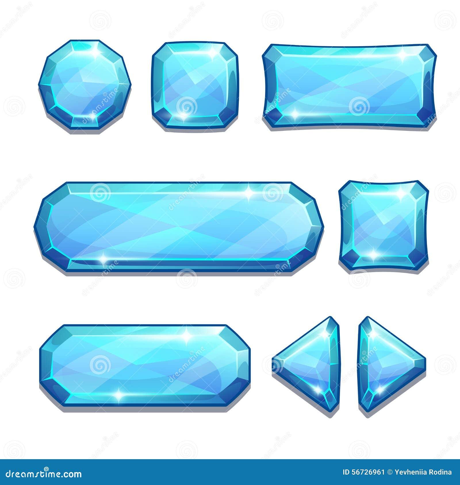 Голубые кристаллические кнопки